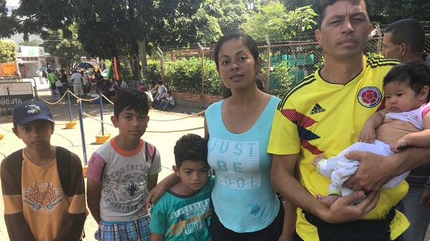 Maribel Arias, 35, who fled to the Colombian border with her family two years ago – living mostly on the streets as she and her husband take turns finding odd jobs while sharing the parenting duties for their four children – said Venezuelans cannot rely on the nation's law enforcement.