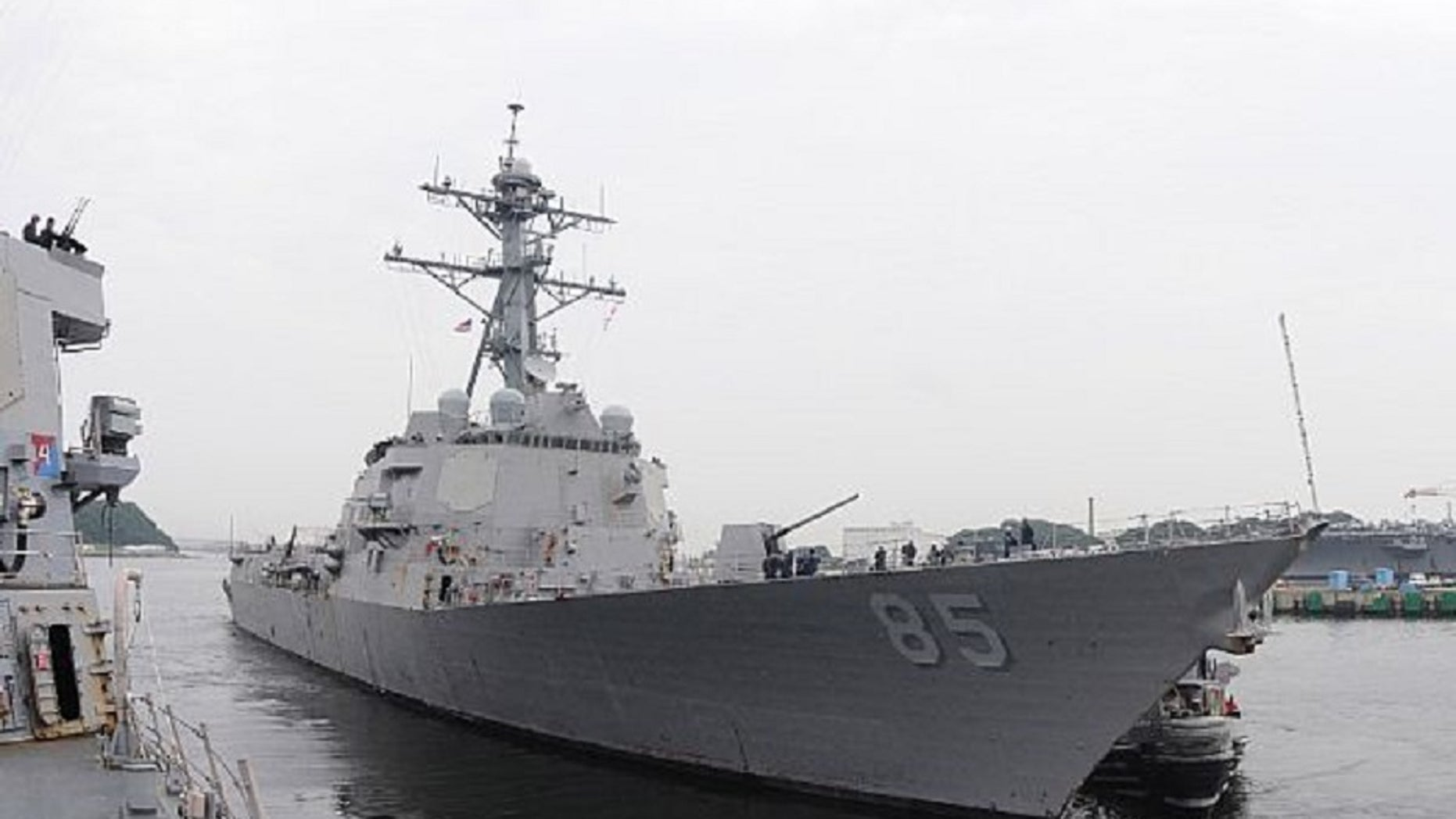 A U.S. Navy ship sailed within 12 miles of China's Paracel Island chain on Monday, a move likely to provoke Beijing which claims nearly of the strategic waters in the South China Sea.