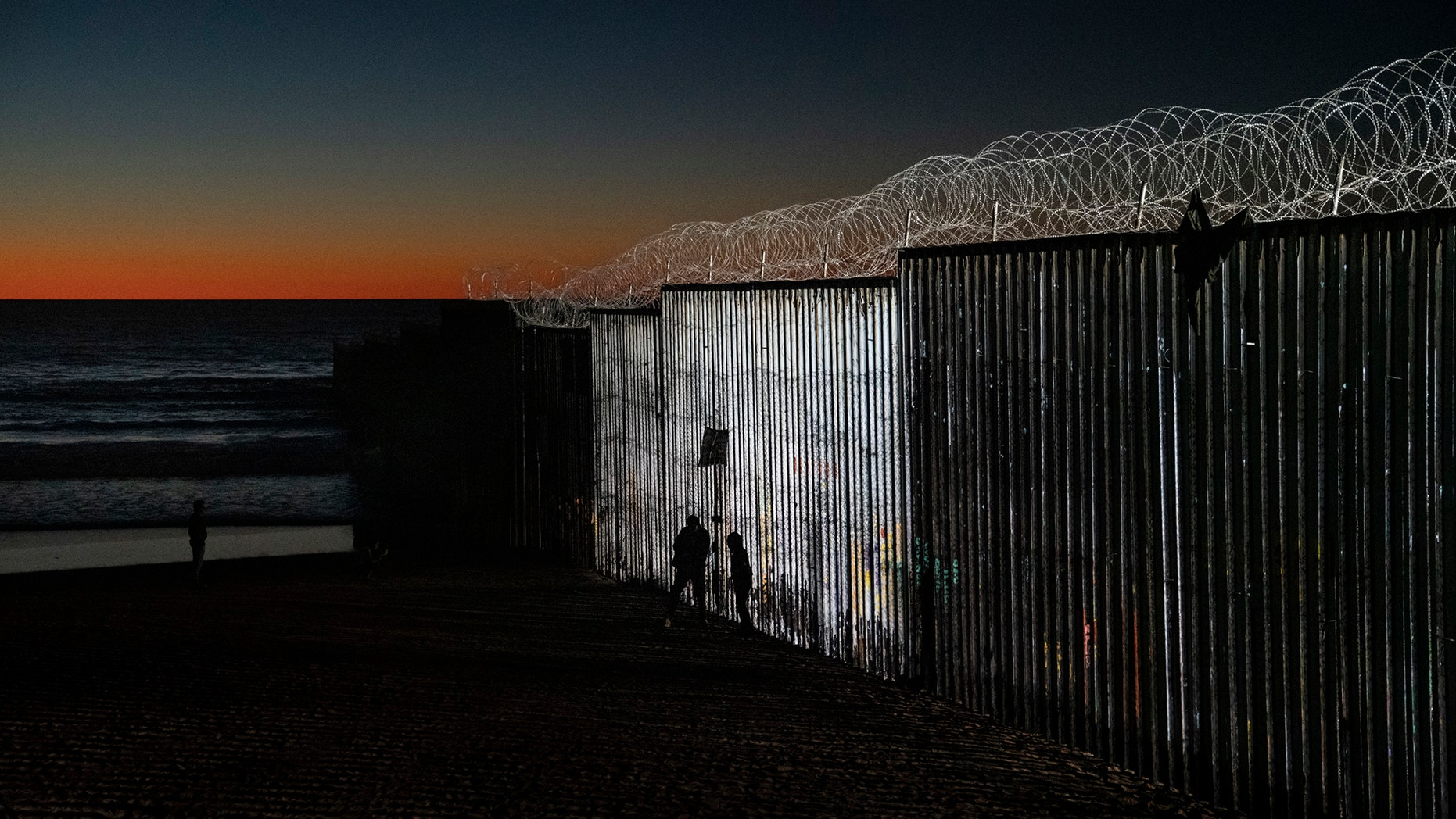 The border fence between San Diego, Calif., and Tijuana, Mexico, Wednesday, Jan. 2, 2019. (AP Photo/Daniel Ochoa de Olza)
