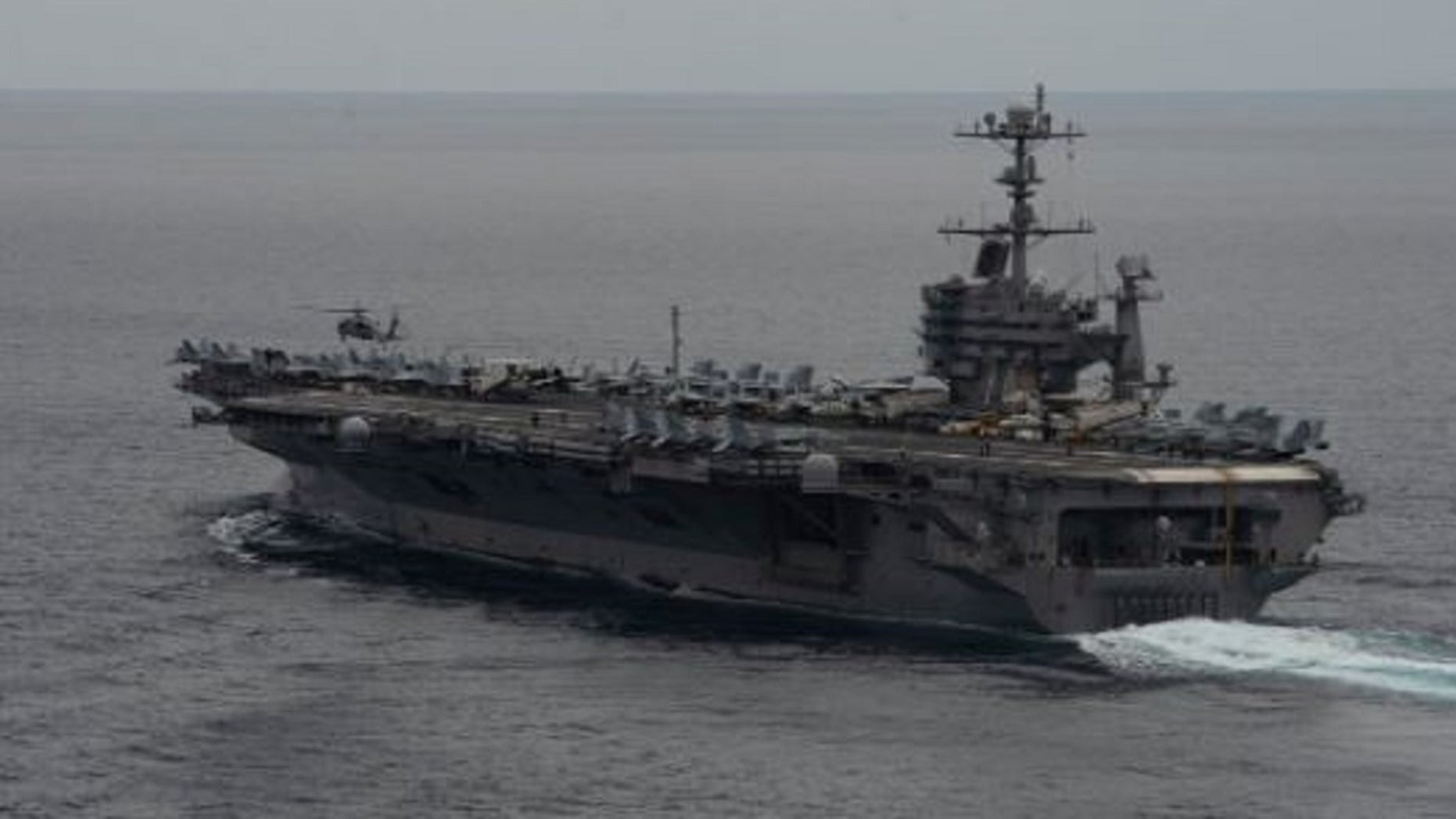 FILE: The USS Ronald Reagan during a dual carrier strike force exercise.