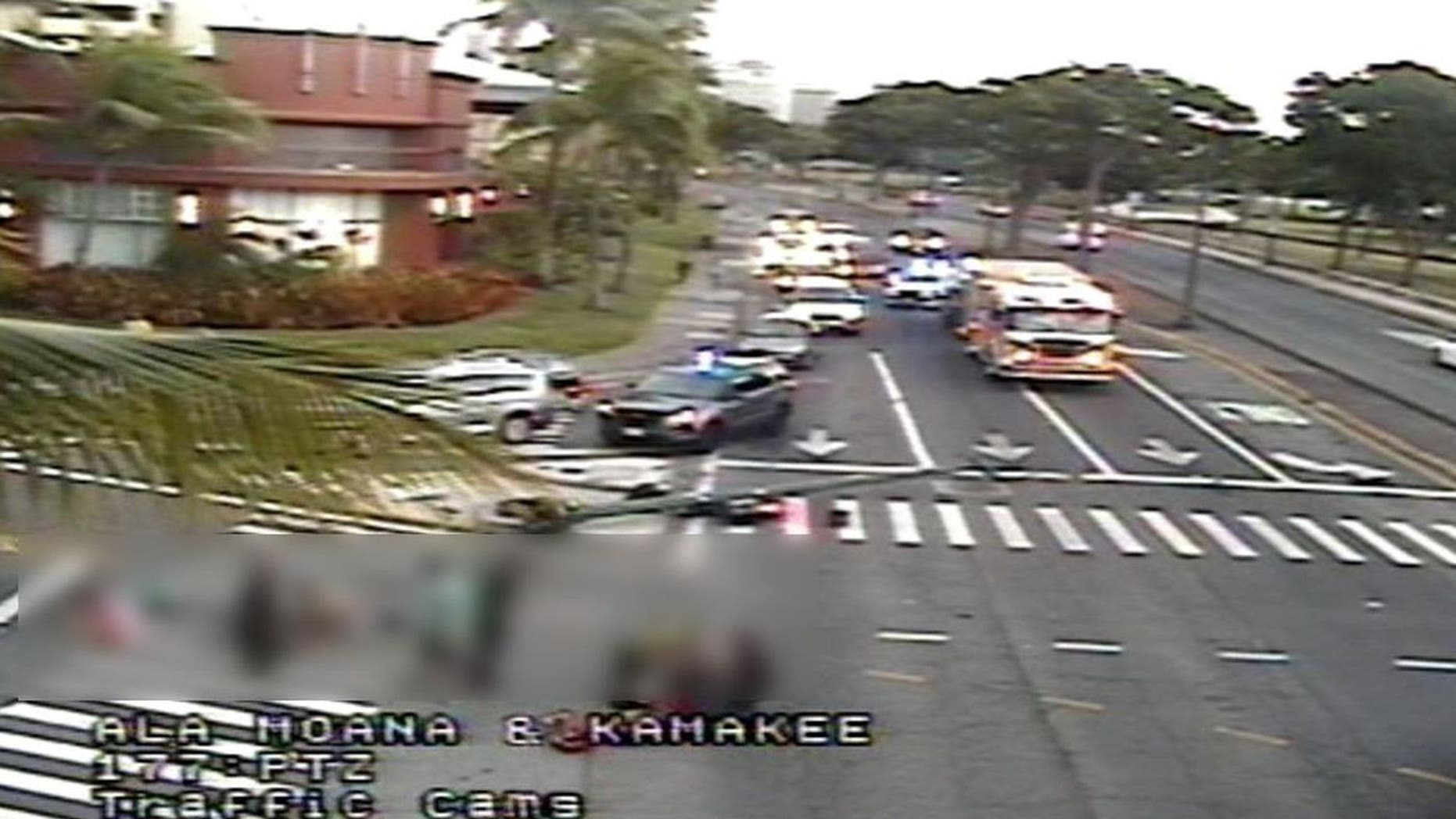 At least three people were killed and five more were taken to the hospital after a deadly collision in a Honolulu neighborhood on Monday.