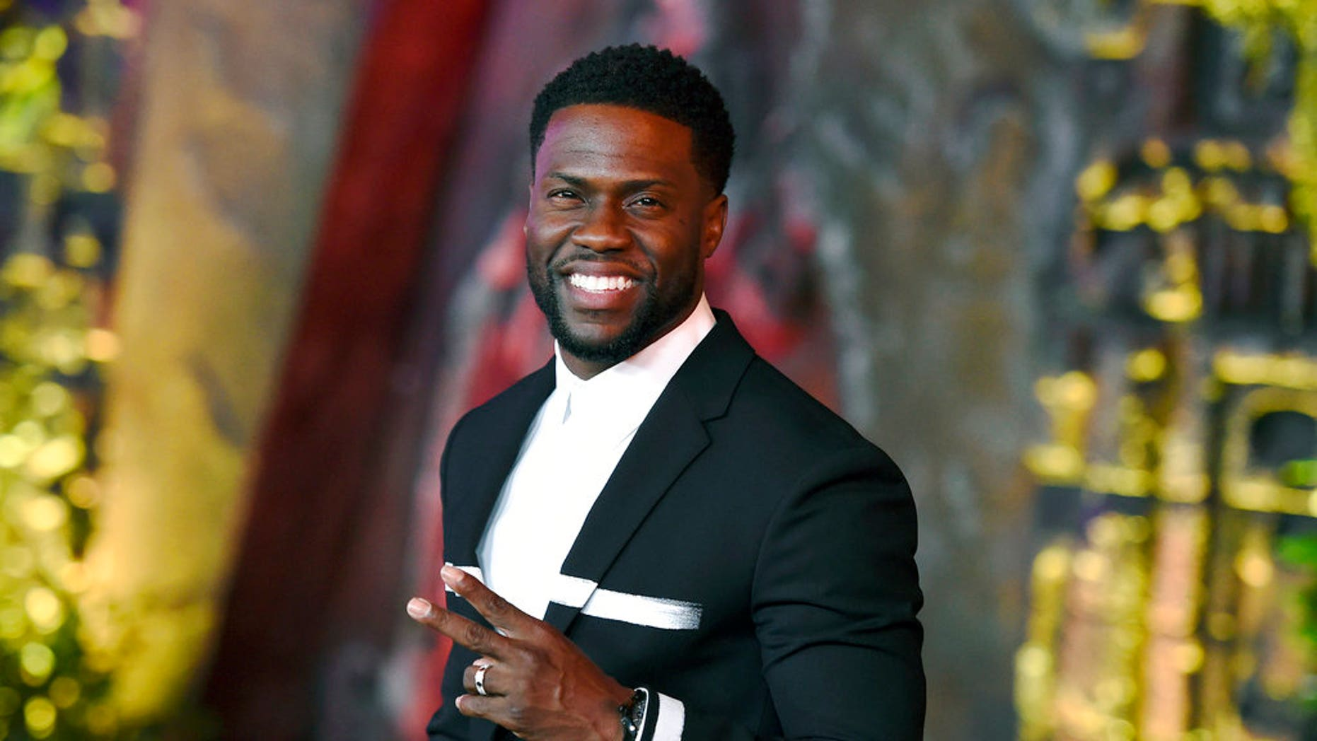"FILE: Kevin Hart arrives at the Los Angeles premiere of ""Jumanji: Welcome to the Jungle"" in Los Angeles."