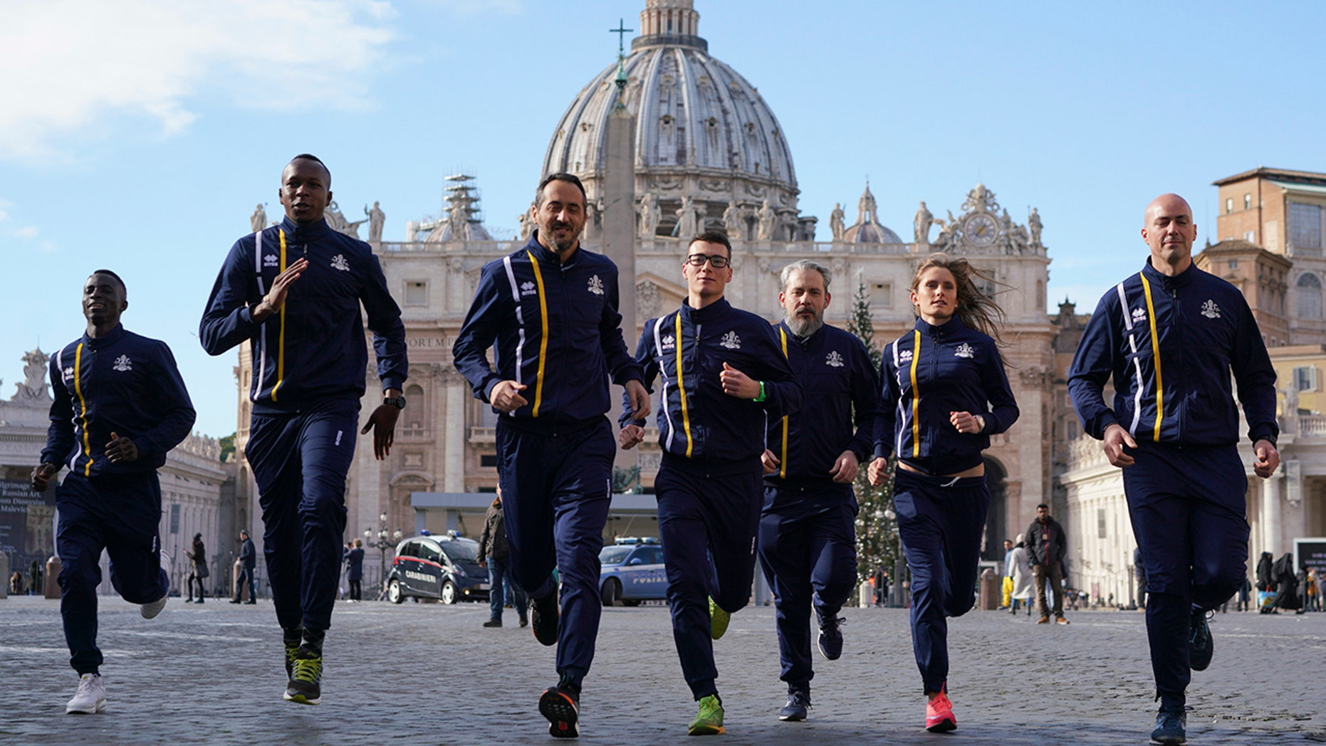 About 60 Holy See employees are the first accredited members of Vatican Athletics. They include Swiss Guards, priests, nuns, pharmacists and even a 62-year-old professor who works in the Vatican's Apostolic Library.