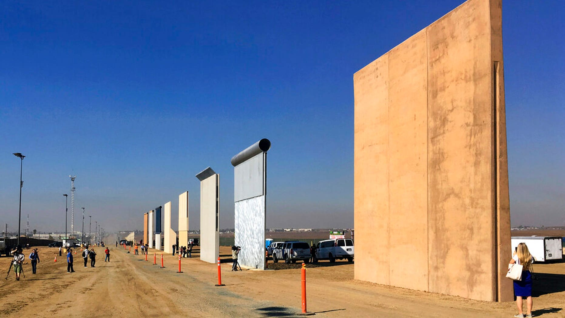 FILE:  Prototypes of border walls in San Diego.