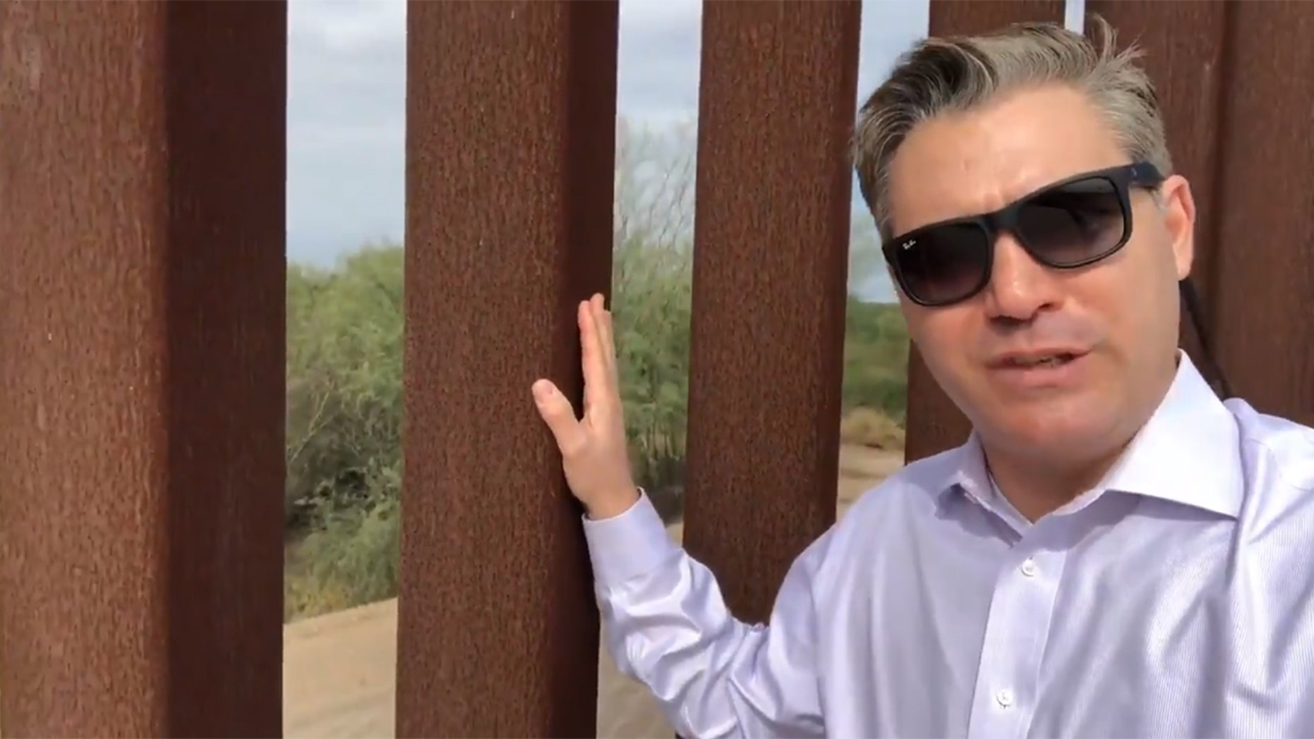 CNN reporter Jim Acosta was mocked for accidently proving that border walls work in a video he uploaded to Twitter.