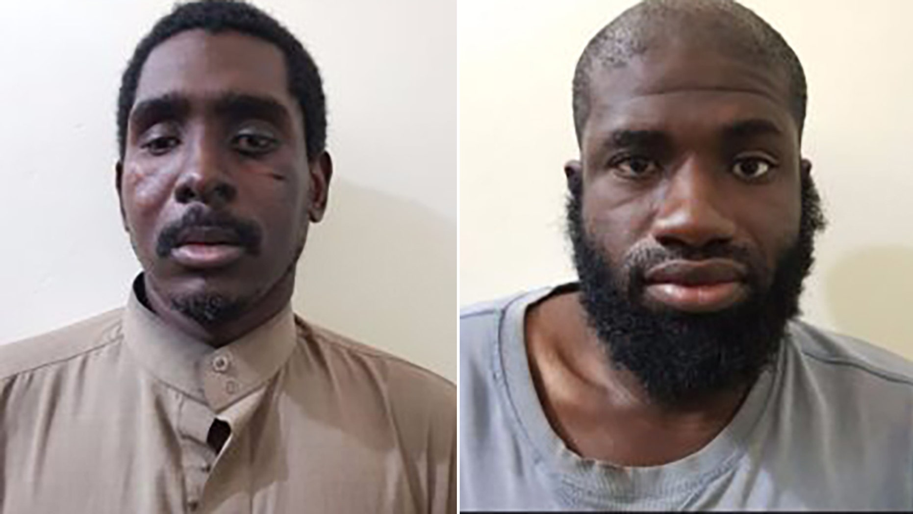 Zaid Abed al-Hamid, left, andWarren Christopher Clark aresaid to be American citizens fighting for ISIS who were recently captured by Syrian Democratic Forces. (SDF-Press.com)