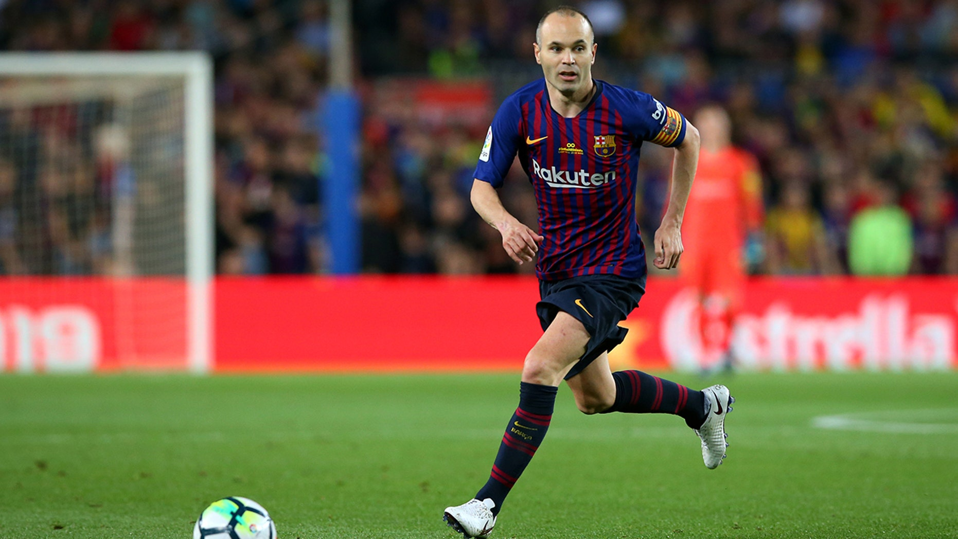 Andres Iniesta was the former Barcelona soccer captain and scored the winning goal for Spain in the 2010 World Cup final.