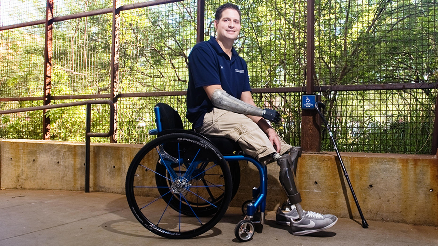 Air Force veteran and triple amputee Brian Kolfage, 37, said Wednesday that donors have given $7 million to his new idea: privately building the wall. (Will Seberger/ZUMAPRESS.com)