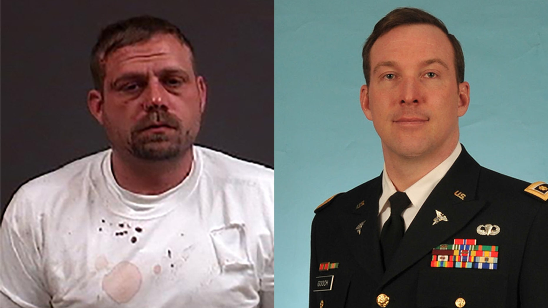 George Buschmann, left, was charged with first-degree murder in the death of Robert Gooch, right.