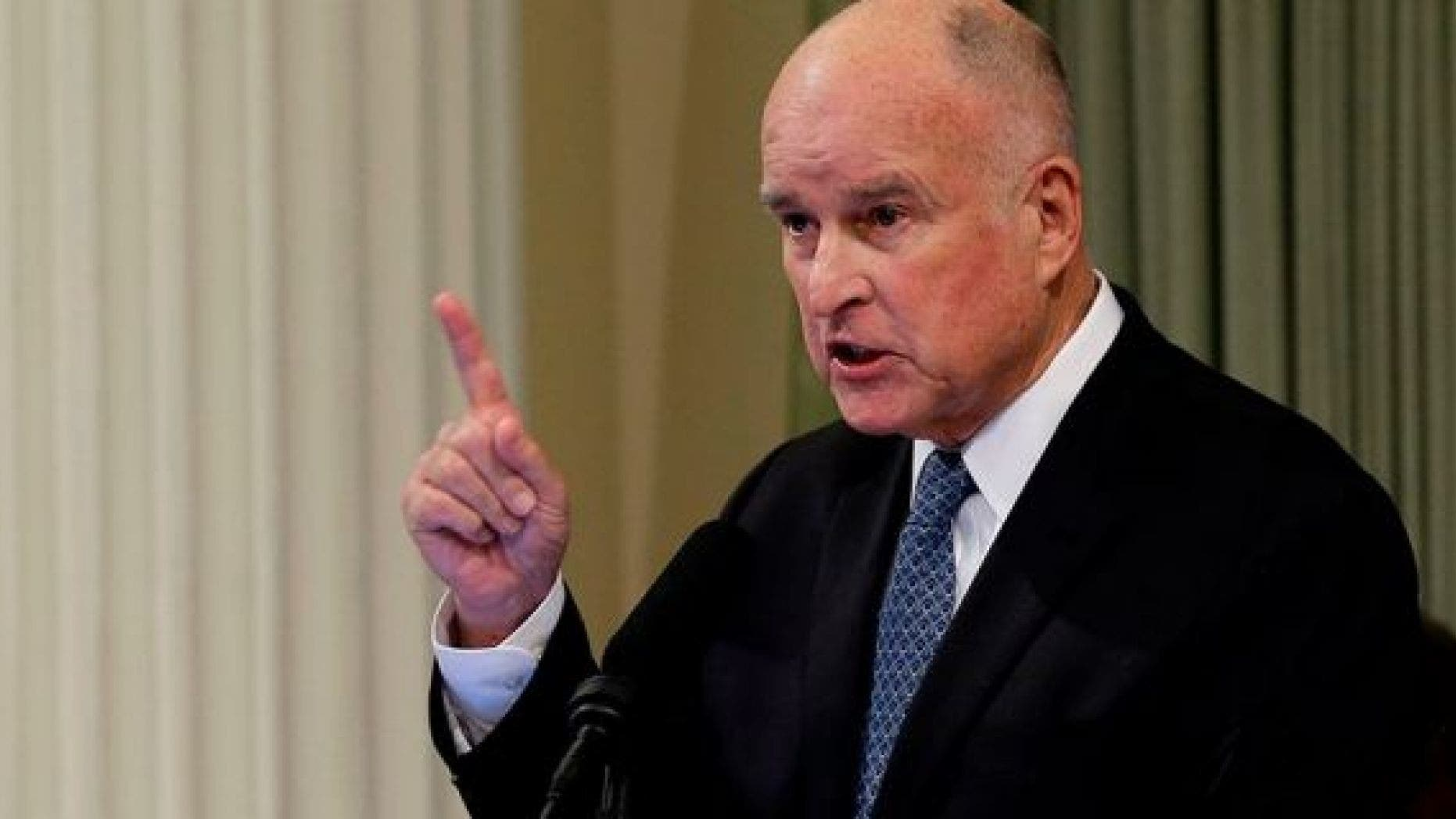 Jerry Brown, who recently completed his second stint as California's governor, will update the Doomsday Clock. (Associated Press)