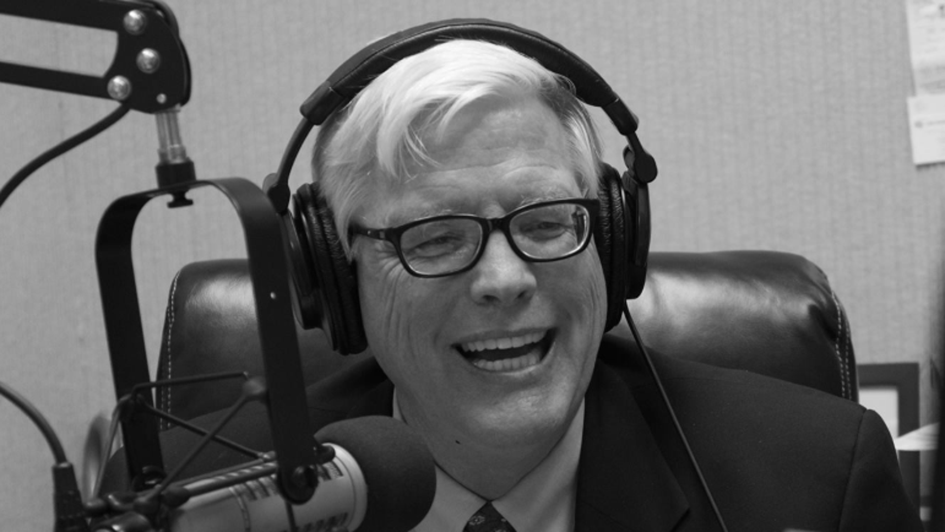 Radio host Hugh Hewitt apologized Tuesday after a joke he made on his radio program received pushback.