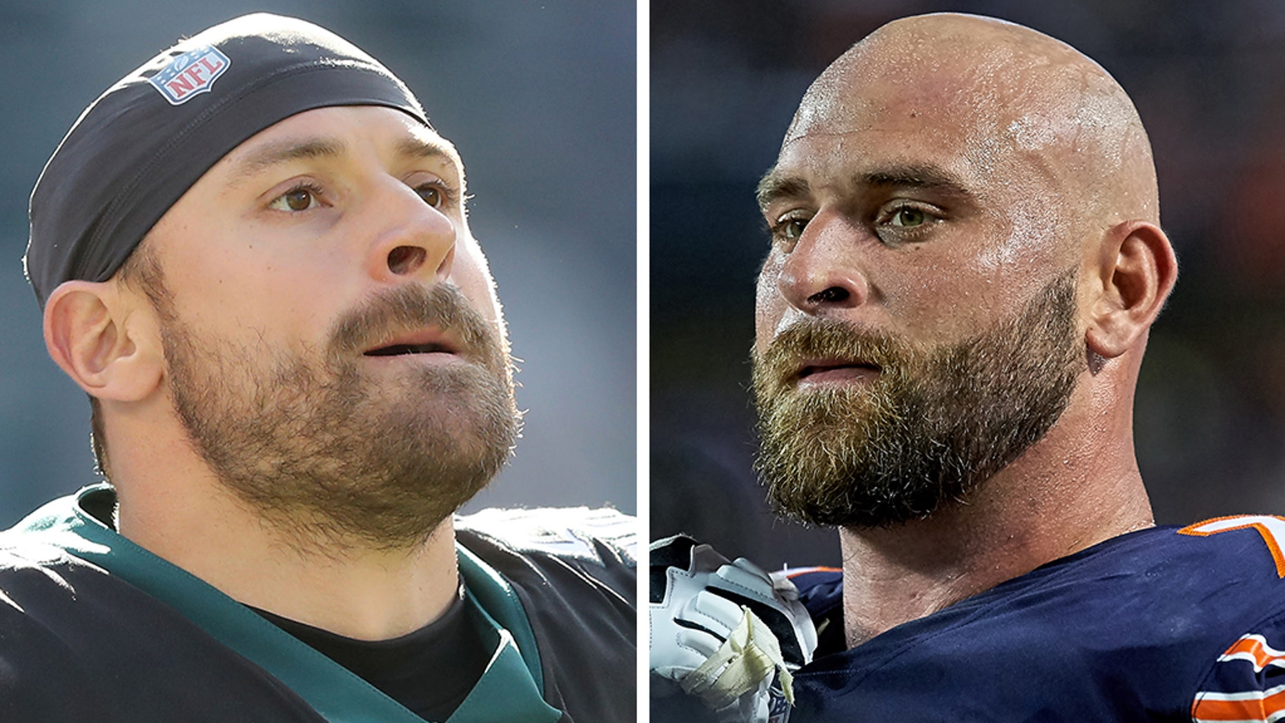 Eagles defensive end Chris Long vs. Bears guard Kyle Long: There can only be one. Howie Long's sons will face off Sunday on the field on his 59th birthday. (Getty, File)