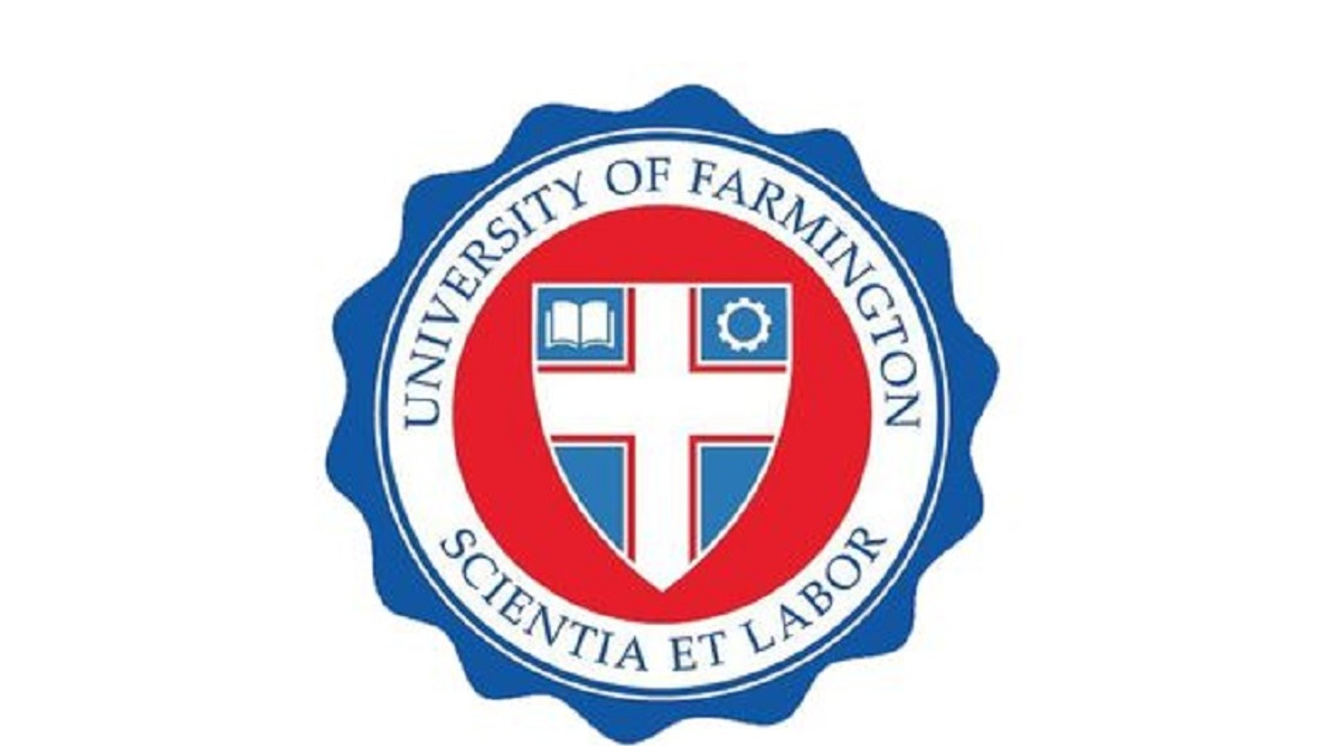 Logo of the University of Farmington in Farmington Hills, Michigan.