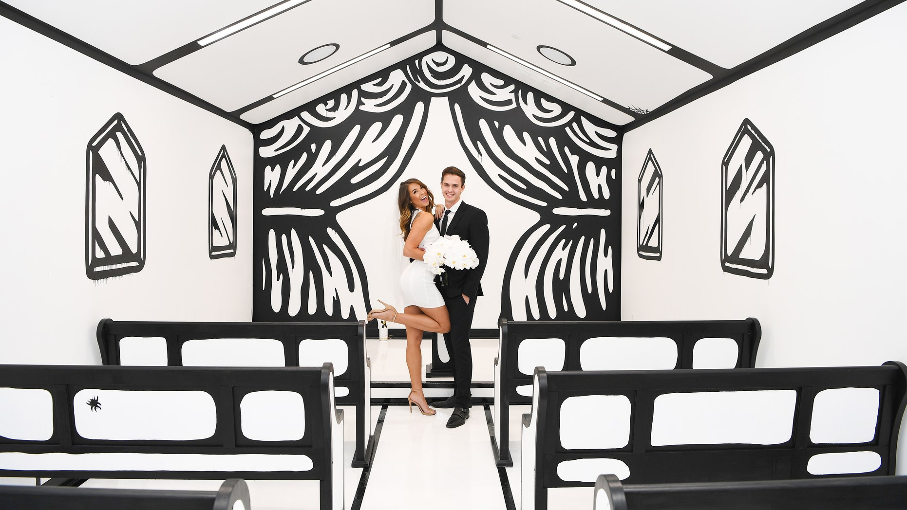 """The """"Til Death Do Us Part"""" installation, which opens on Friday at the Palms Casino Resort in Las Vegas, was dreamed up by graphic designer Joshua Vides."""