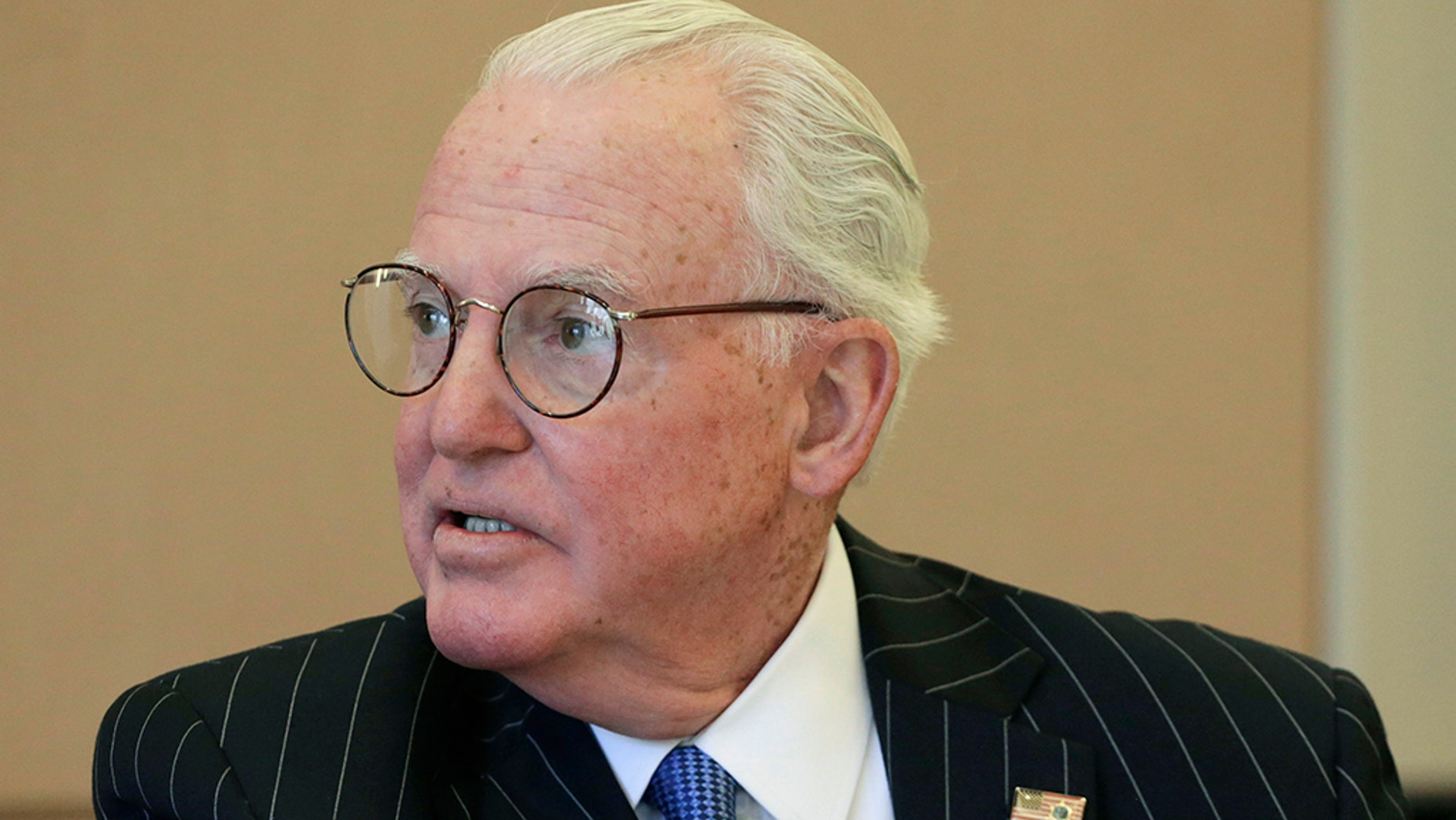 Alderman Ed Burke, 75, is charged with one count of attempted extortion for conveying to company executives in 2017 that they'd get the permits if they signed on as clients at Burke's private property tax law firm in Chicago. (AP Photo/M. Spencer Green, File)
