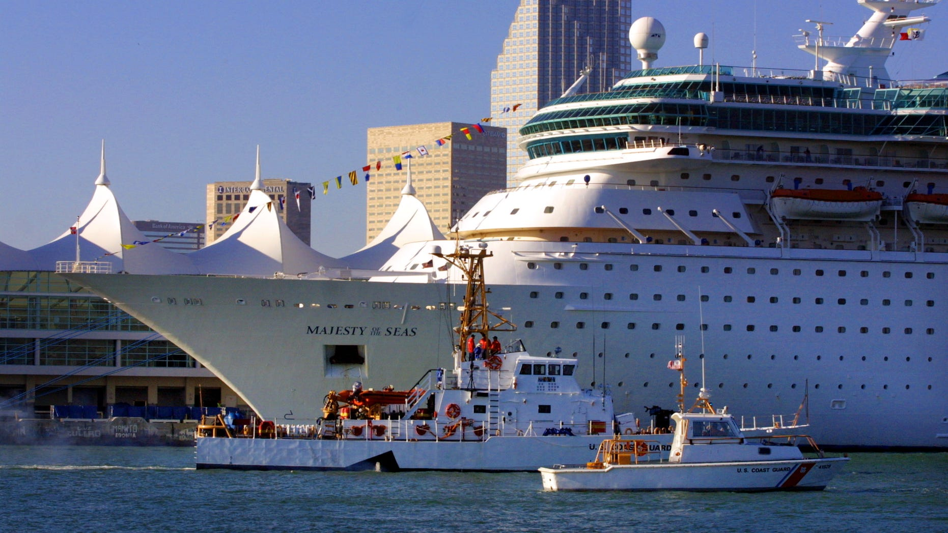The Majesty of the Seas, seen here at the Port of Miami in 2002, was returning to Florida from a five-day cruise to the Bahamas.