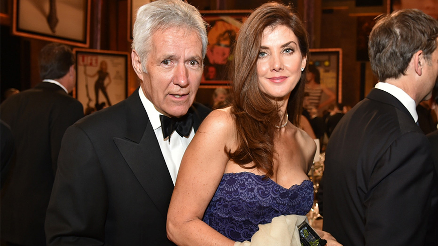 TV personality Alex Trebek (L) and his wife Jean attend the 2014 AFI Life Achievement Award: A Tribute to Jane Fonda at the Dolby Theatre on June 5, 2014 in Hollywood, California.