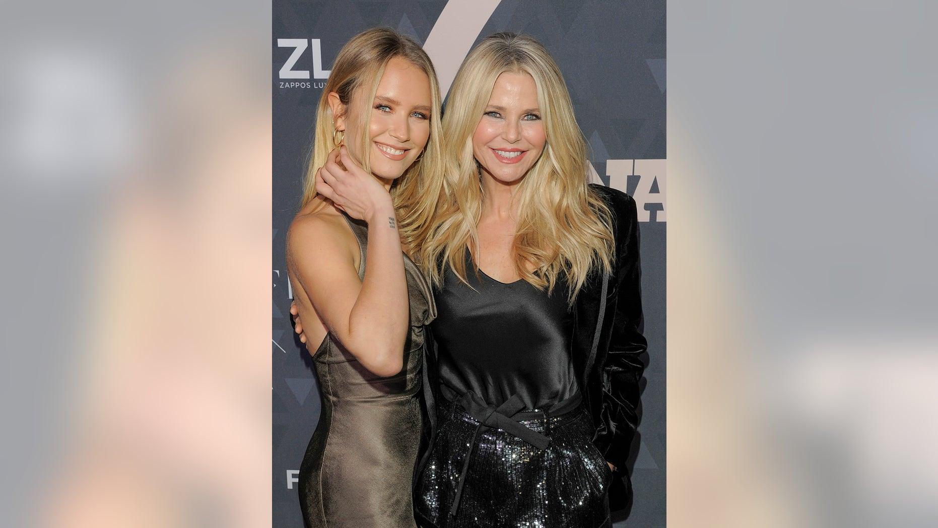 Sailor Brinkley Cook (left) and mom Christie Brinkley. — Getty