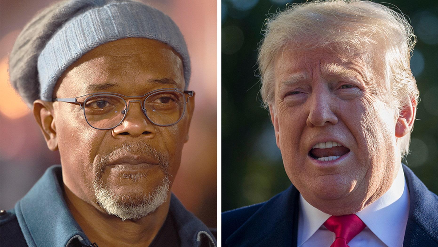 "Samuel L. Jackson likened President Trump to a ""plantation"" owner. (Getty/AP)"