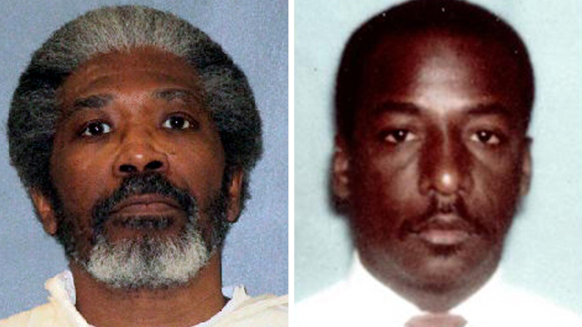 Robert Jennings, 61, left, was executed on Wednesday, January 30, 2019, to kill the 24-year-old Houston police officer Elston Howard more than three decades ago.