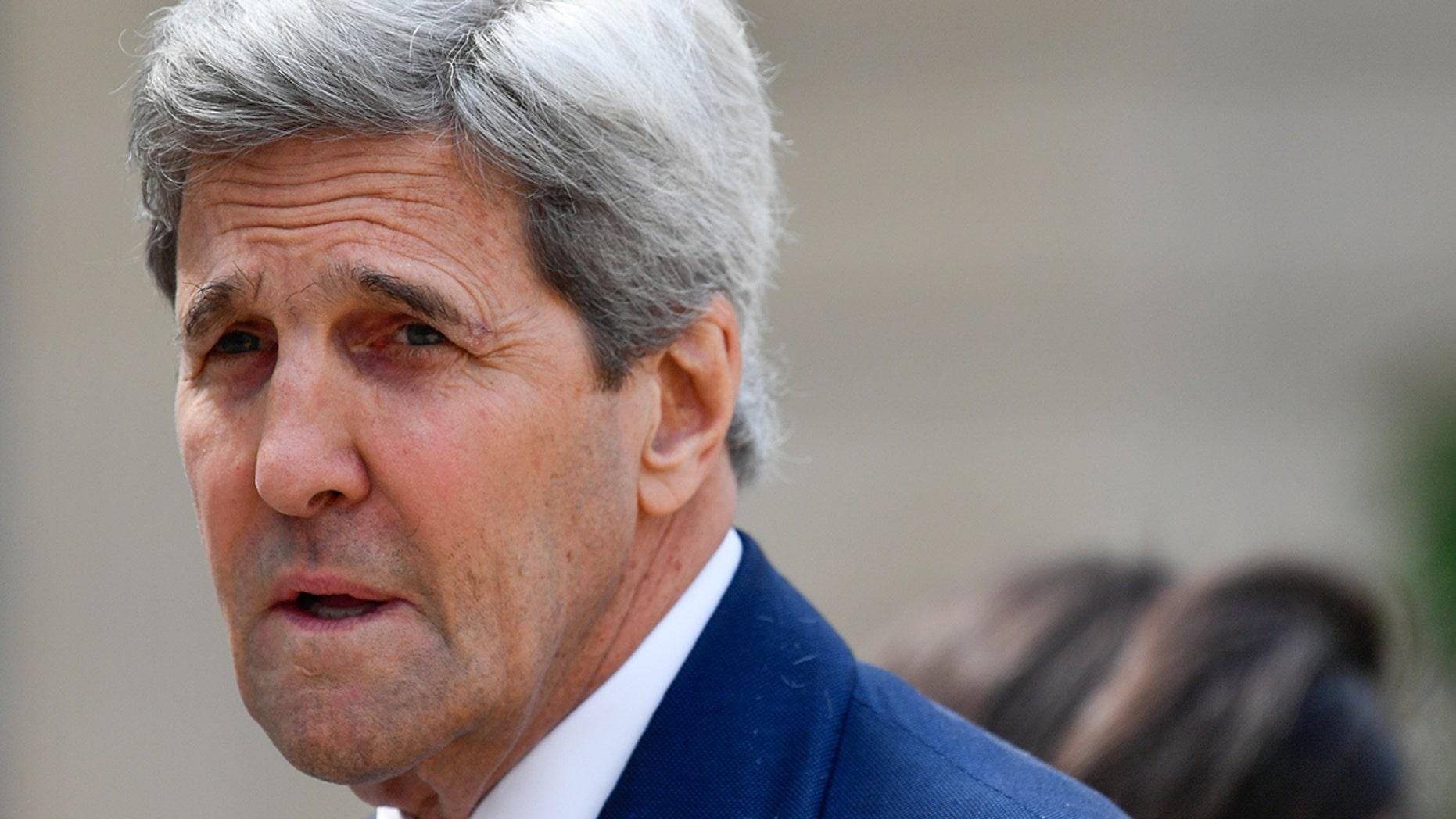 FILE 2018: Former Secretary of State John Kerry in Paris (Photo by Julien Mattia/NurPhoto via Getty Images)