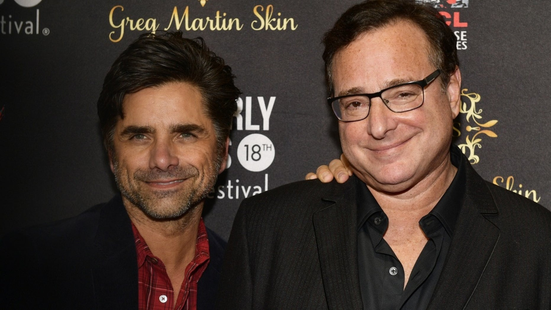 """""""Fuller House"""" stars John Stamos and Bob Saget were seen out on the town Monday and enjoying a double date with their wives."""