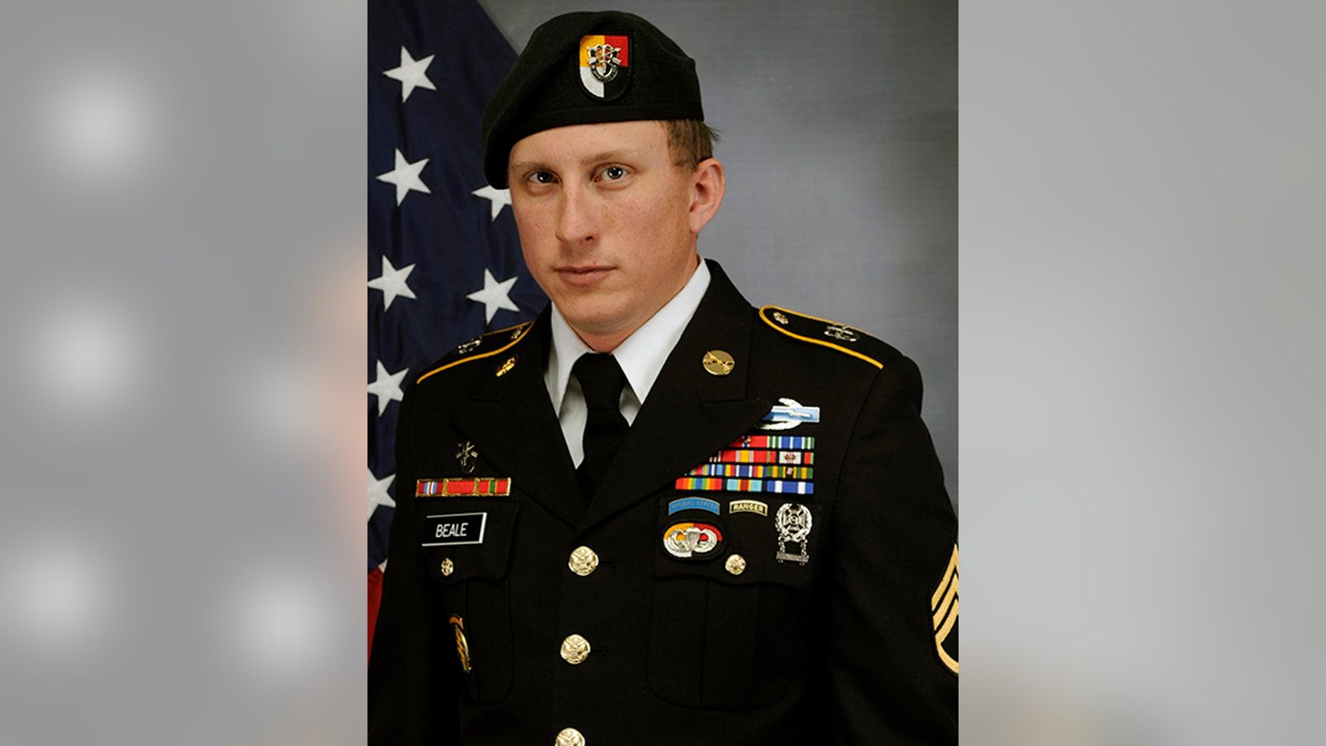 U.S. Army Special Forces Sgt. 1st Class Joshua Beale. (Fort Bragg Public Affairs via AP)