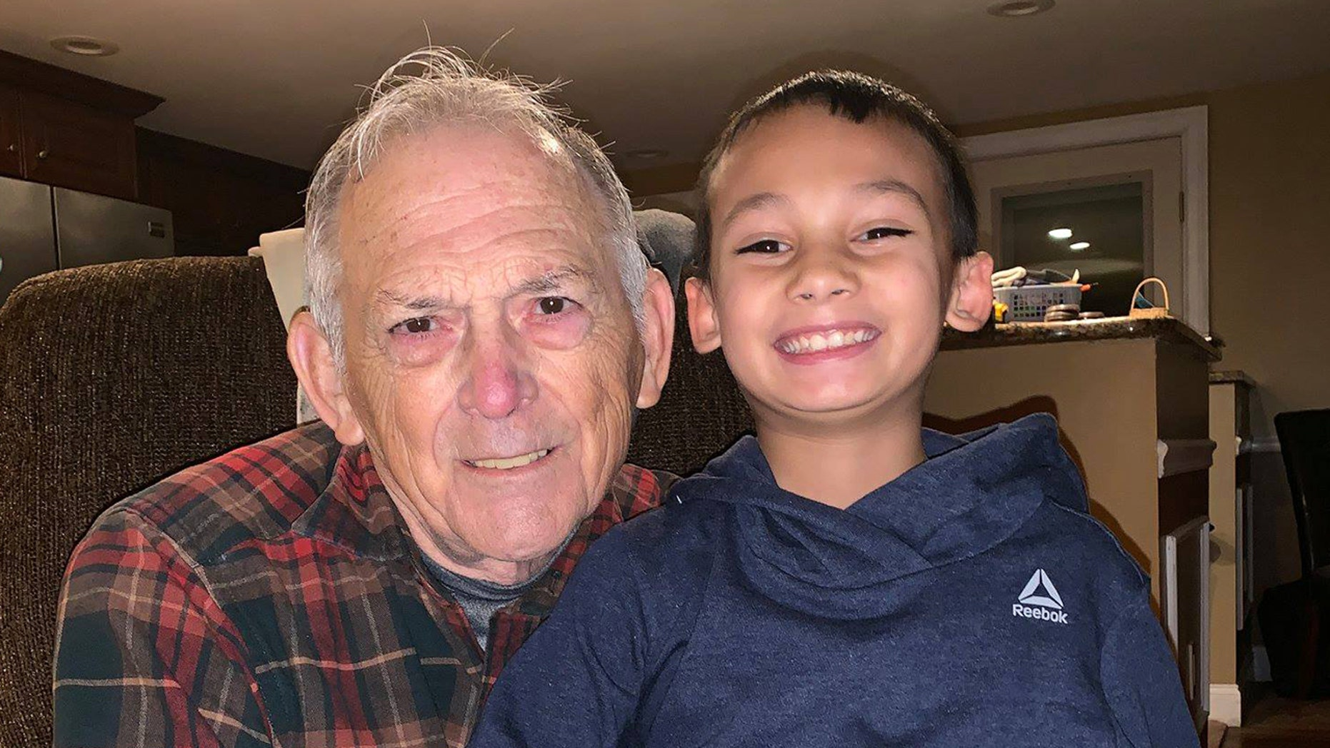 Kazin Crisman was headed for pizza with his grandfather on Saturday when he noticed the 80-year-old struggling to start the car.