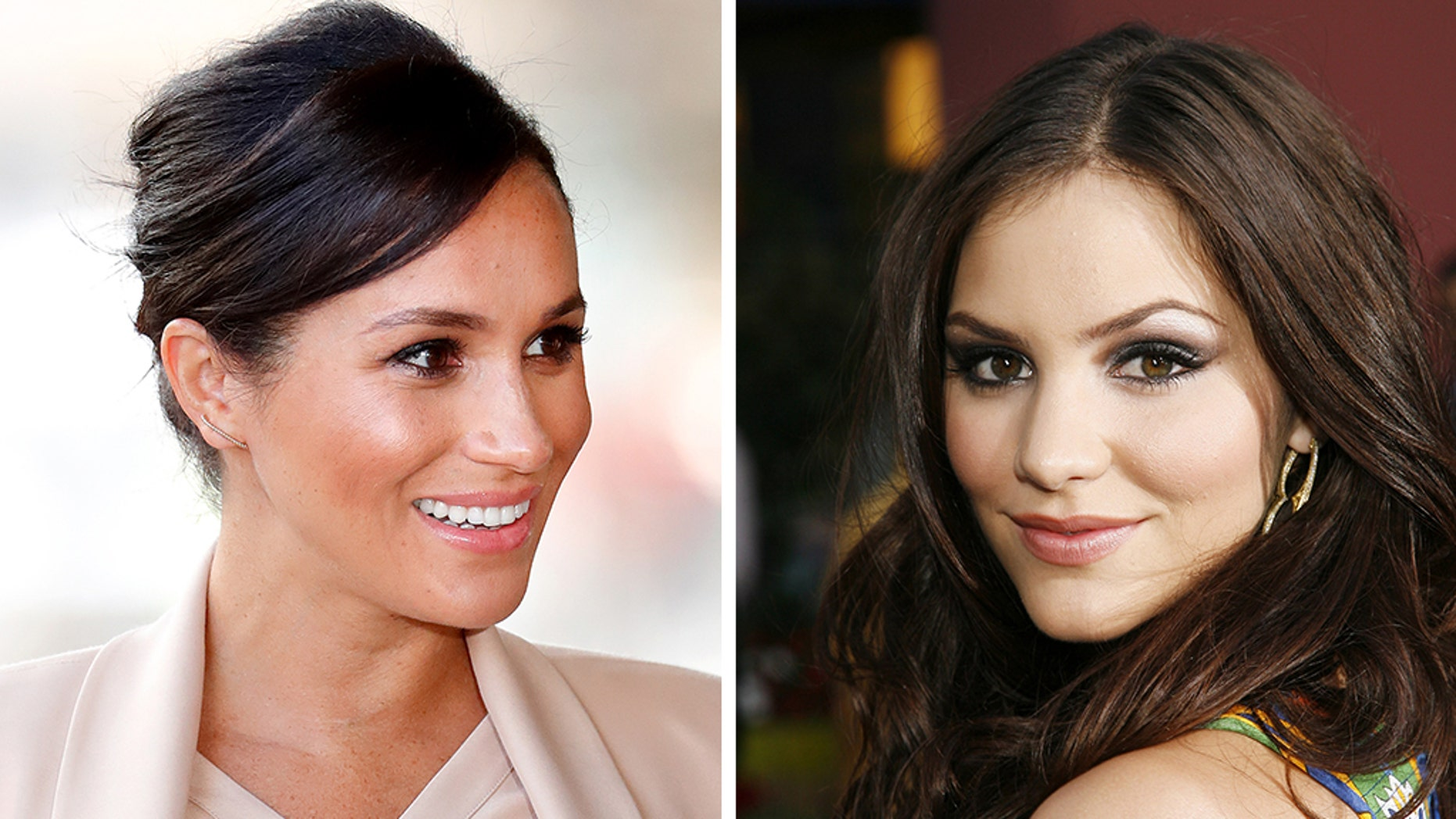 Katharine McPhee shared an epic throwback photo with Meghan Markle on Thursday.
