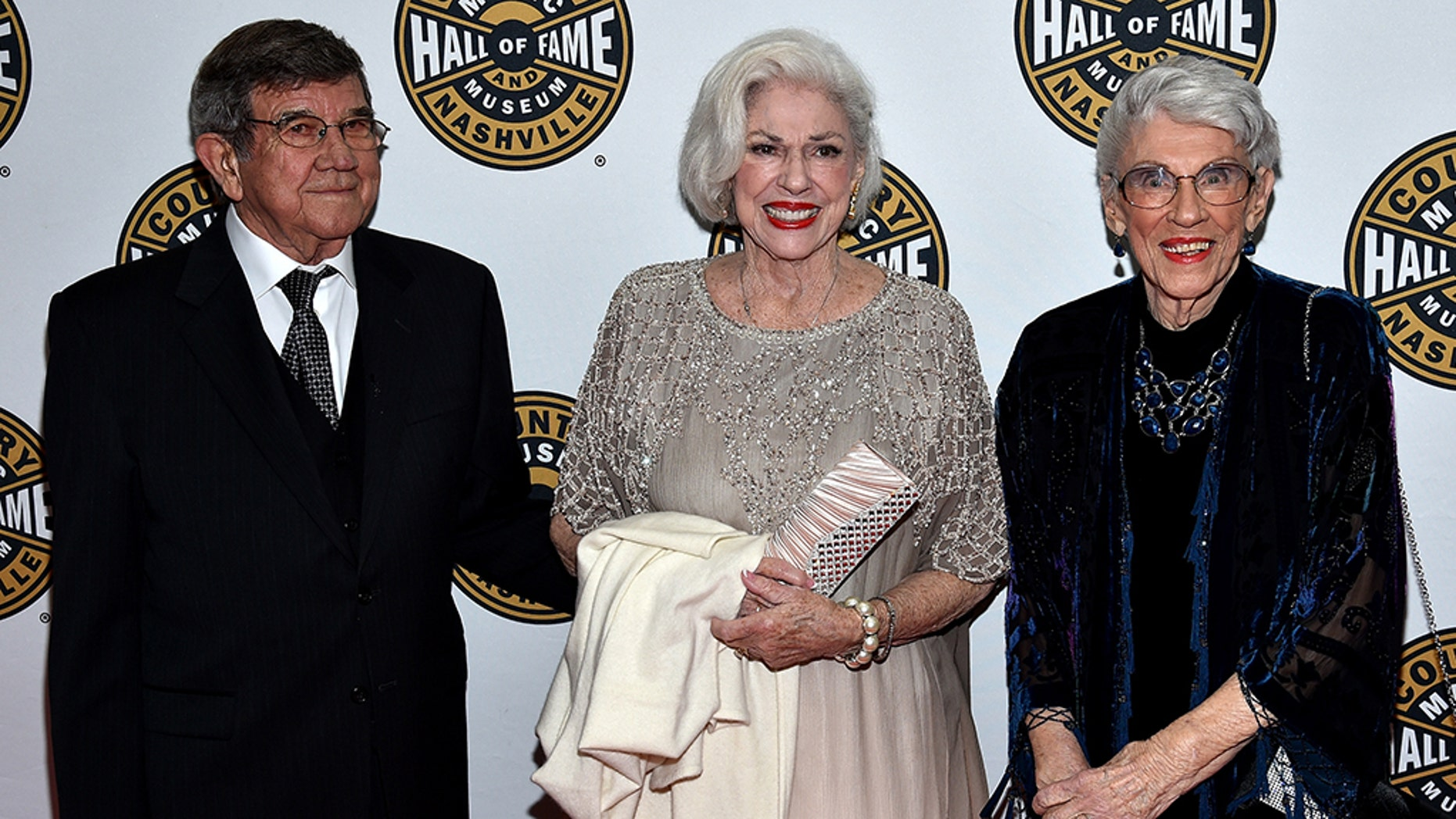 From l-r: Bonnie Brown, Maxine Brown and guest attend The Country Music Hall of Fame 2015 Medallion Ceremony at the Country Music Hall of Fame and Museum on October 25, 2015 in Nashville, Tennessee. (Photo by John Shearer/Getty Images for CMHOF)