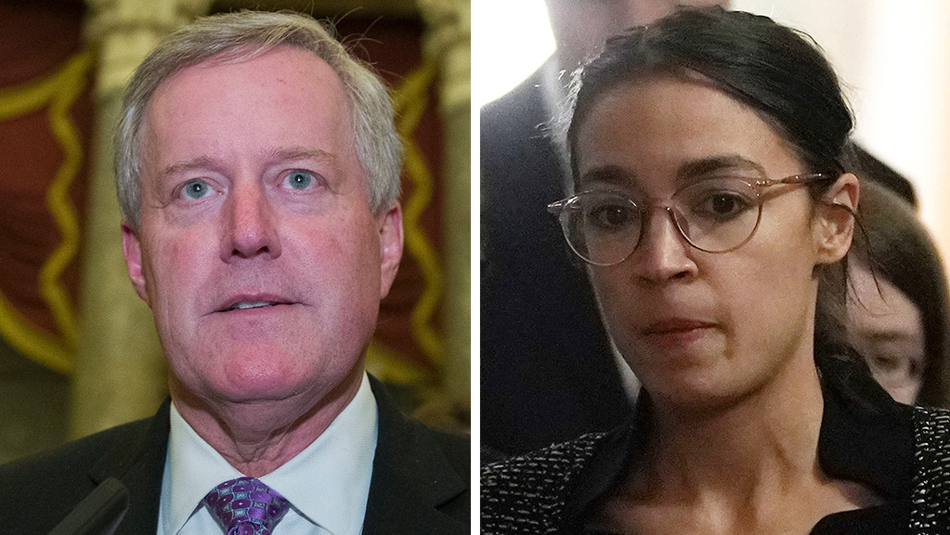 Rep. Mark Meadows, R-N.C., reportedly butted heads with freshman Rep. Alexandria Ocasio-Cortez, D-N.Y., a bit on Tuesday.