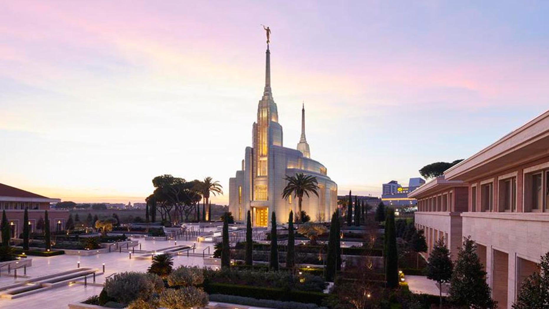 The Rome Italy Temple opened Monday as the first Mormon temple in Italy miles away from the Vatican in the Eternal City.