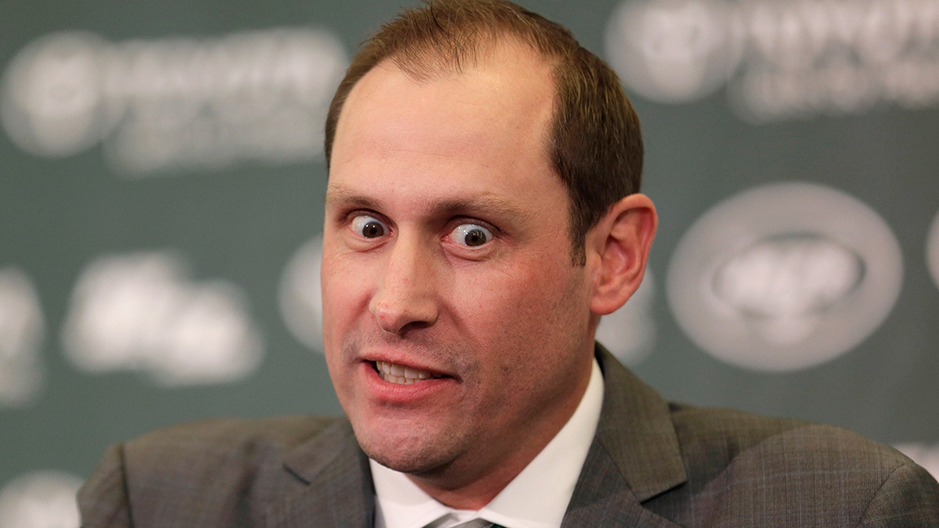 New York Jets head coach Adam Gase speaks during a news conference in Florham Park, N.J., Monday, Jan. 14, 2019.