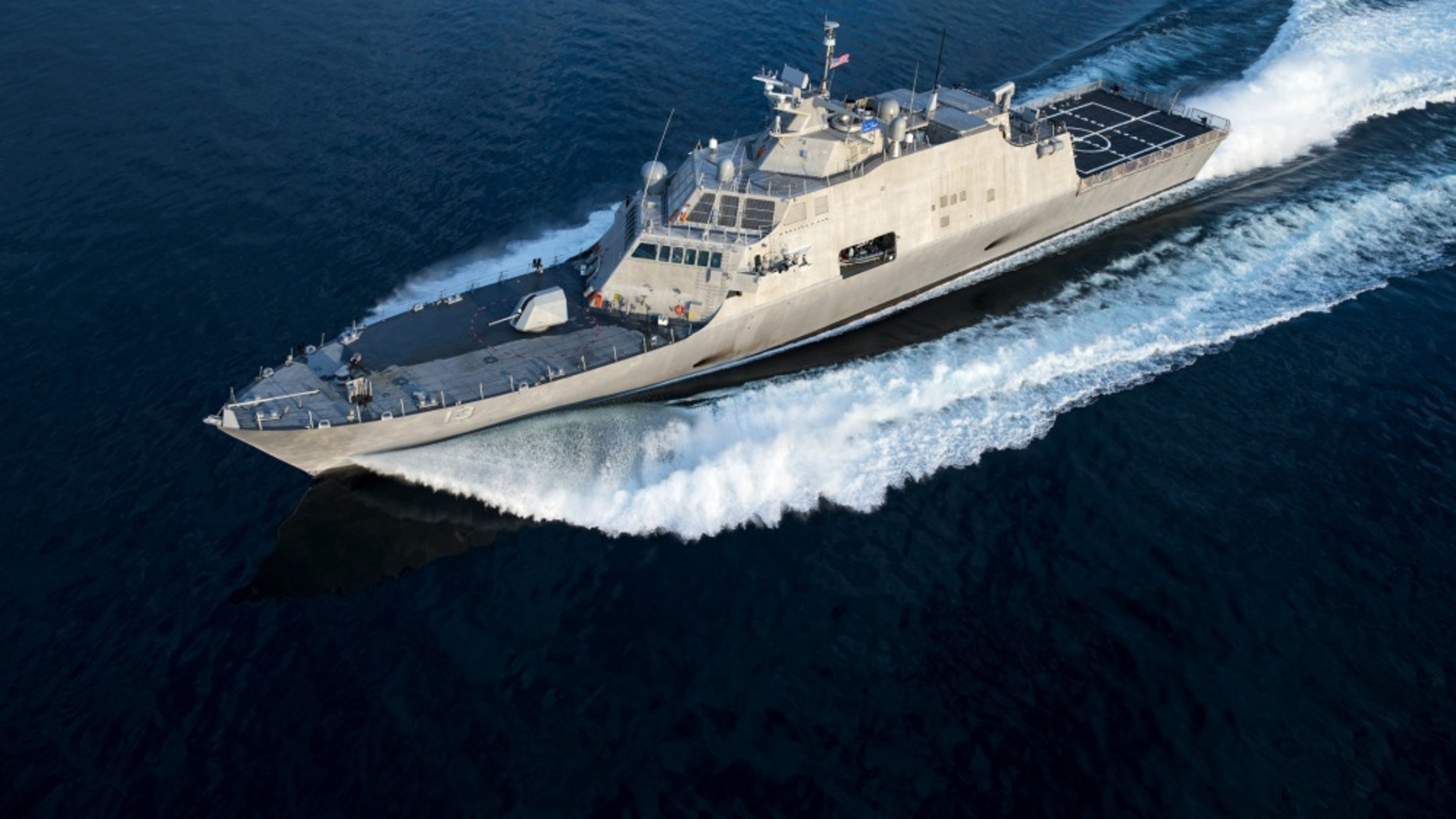 File photo - The future littoral combat ship USS Wichita (LCS 13) conducts acceptance trials on Lake Michigan. The trials are the last significant milestone before a ship is delivered to the Navy. (U.S. Navy photo courtesy of Lockheed Martin/Released)