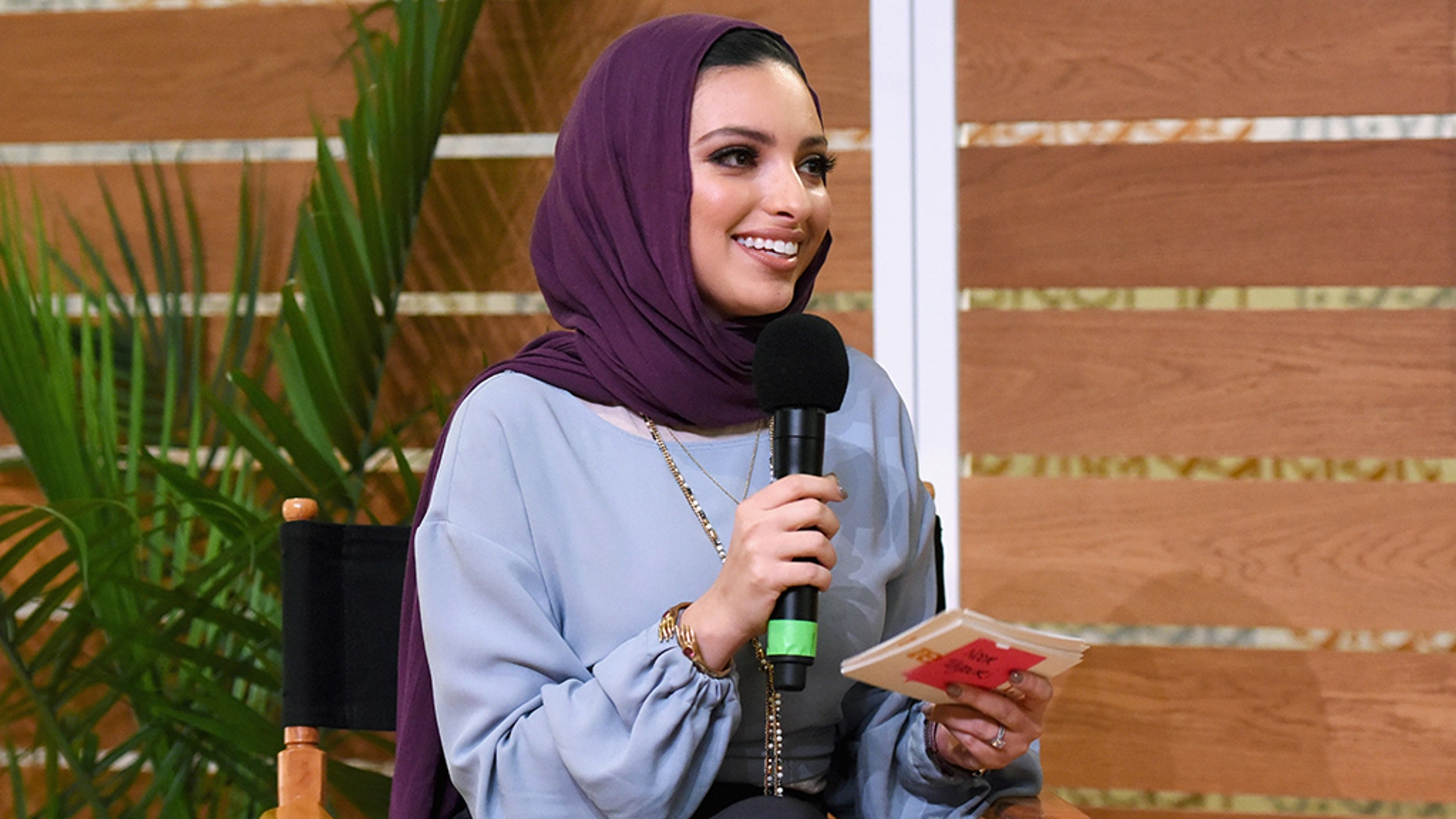 Noor Tagouri speaks onstage during The Change Agents keynote at The Teen  Vogue Summit 2018.