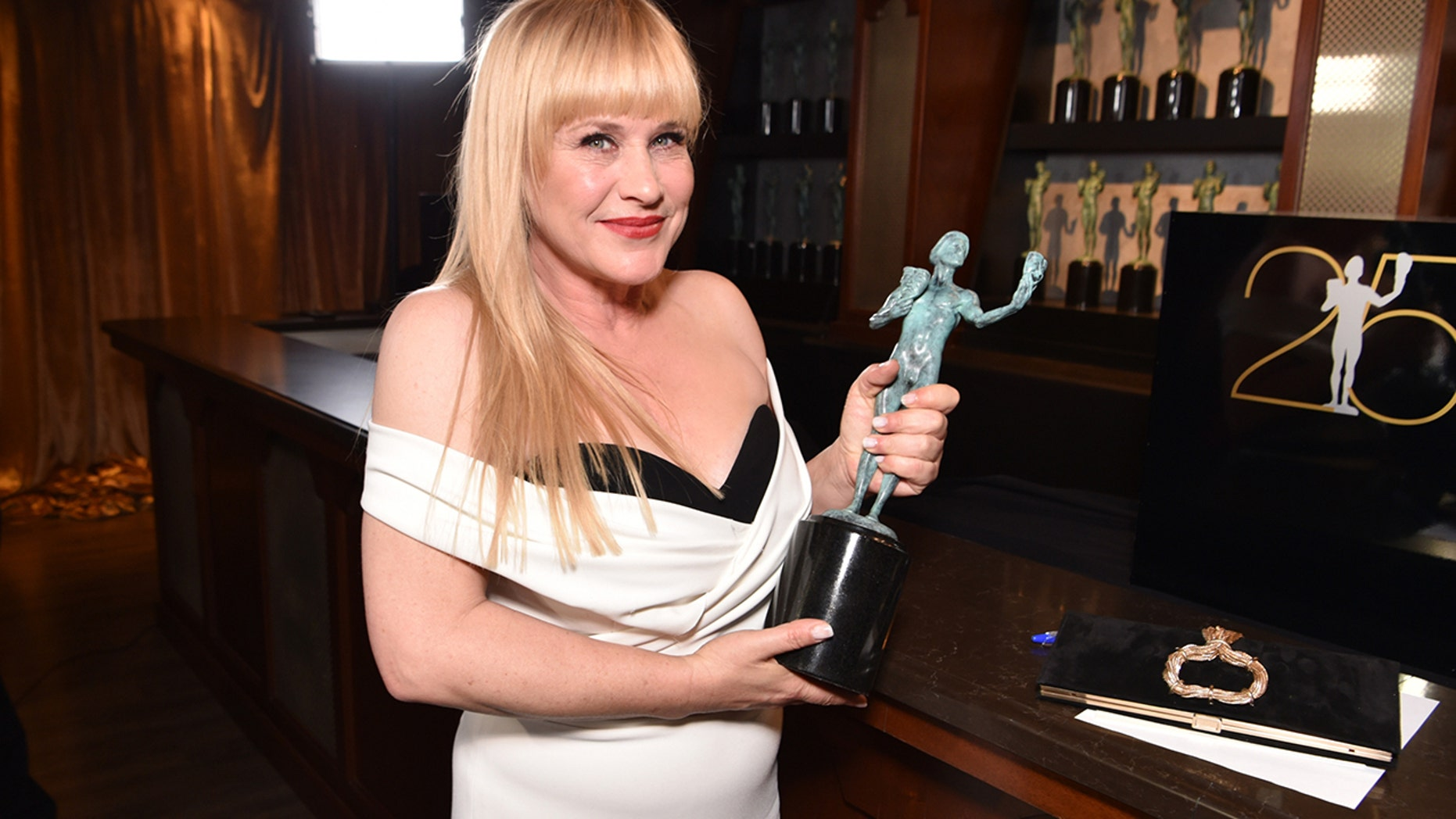 Patricia Arquette won Outstanding Performance by a Female Actor in a Miniseries or Television Movie for 'Escape at Dannemora.' Getty