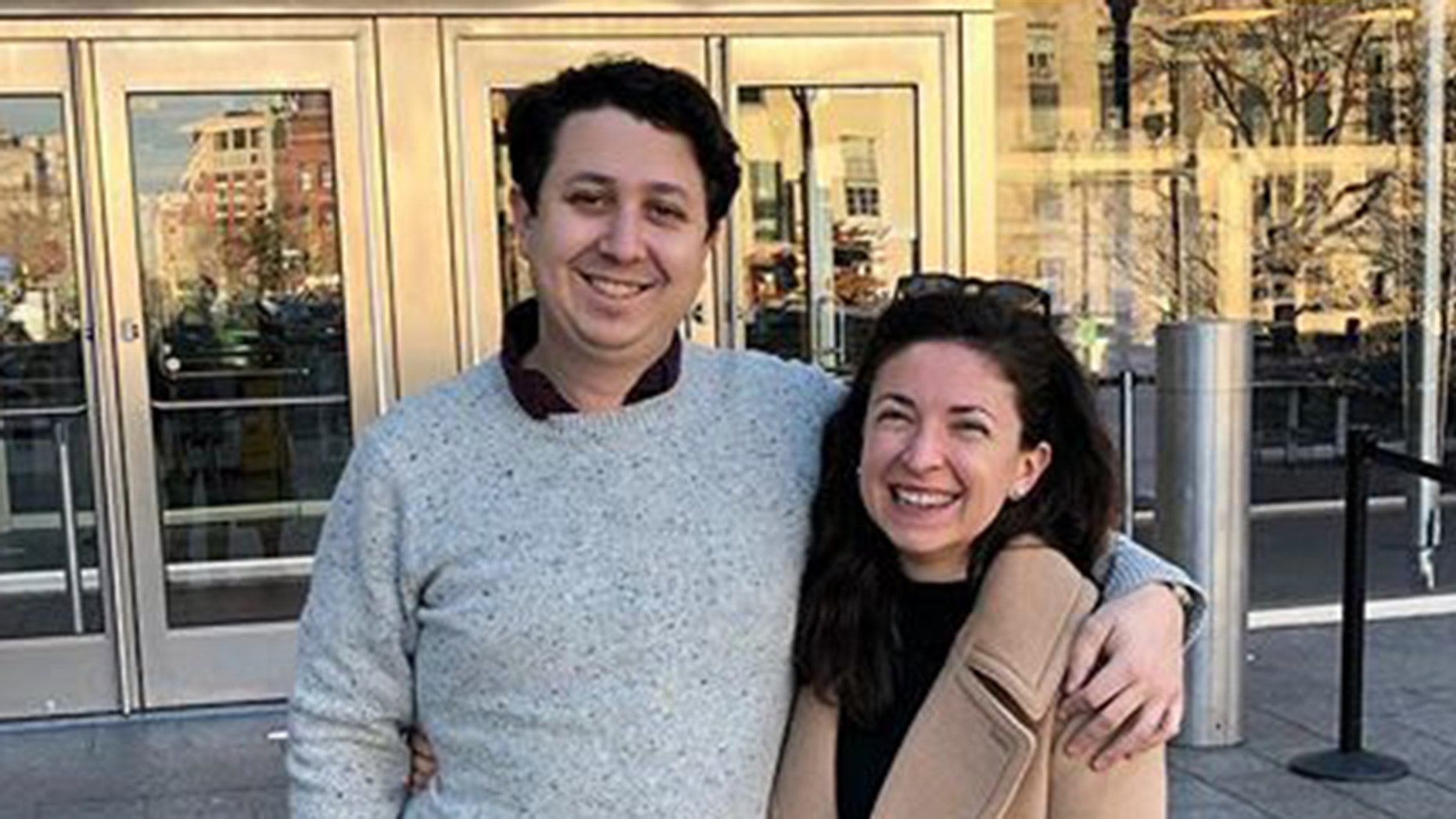 Danielle Geanacopoulos and Dan Pollock, both former Senate staffers, said they couldn't obtain a marriage license in Washington, D.C., because of the ongoing government shutdown.