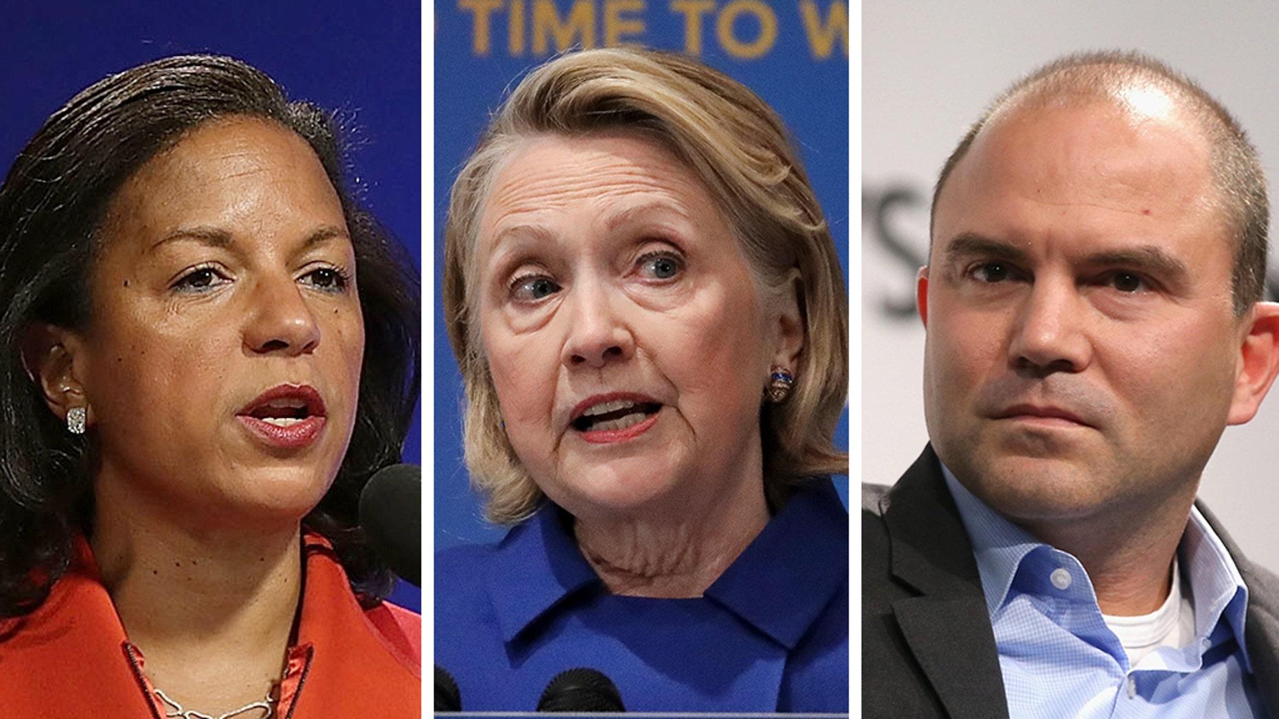 Susan Rice, Hillary Clinton, Ben Rhodes