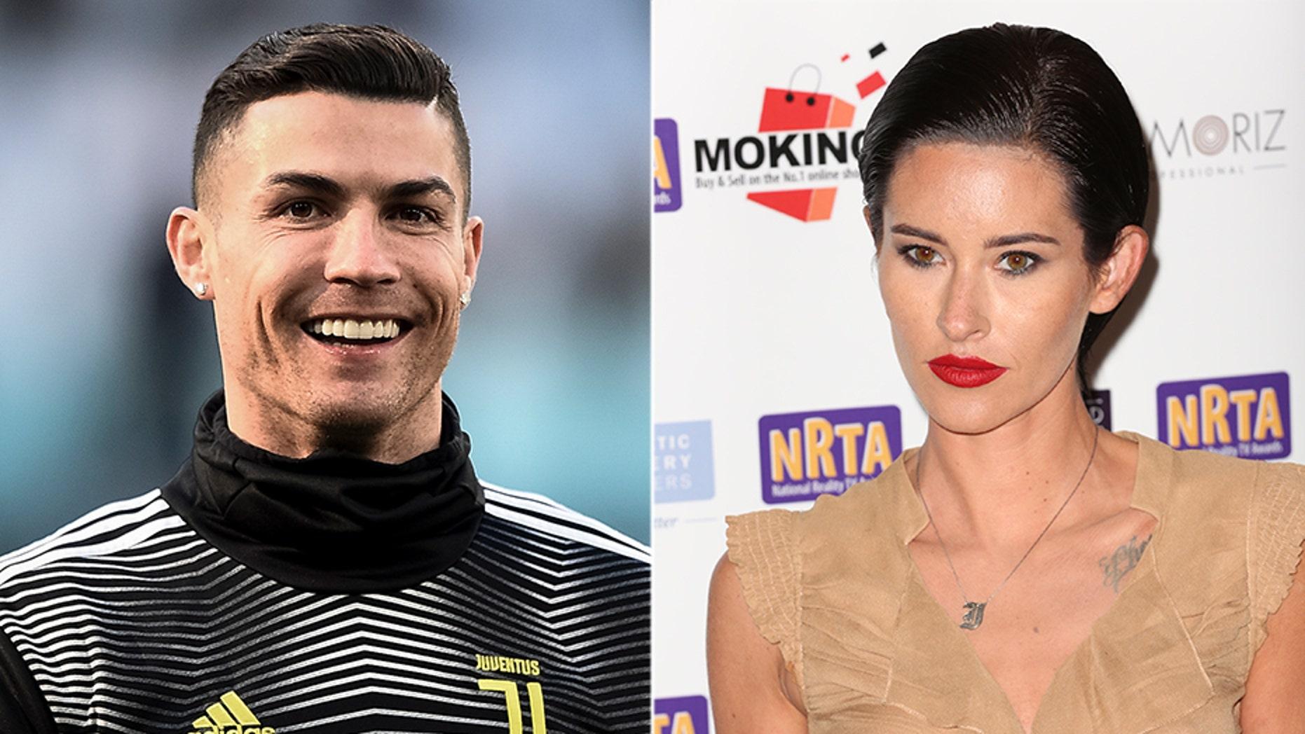 Jasmine Lennard, right, claimed Juventus soccer star Cristiano Ronaldo threatened her with bodily harm.