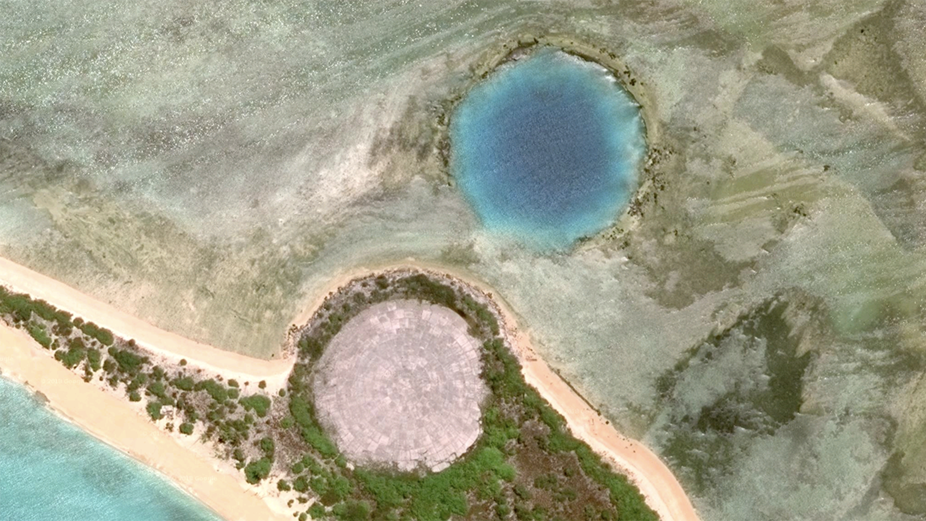 During its clean-up operation on Enewetak Atoll, in the Marshall Islands, themilitary built a giant concrete dome to house the toxic material left over from the nuclear tests.