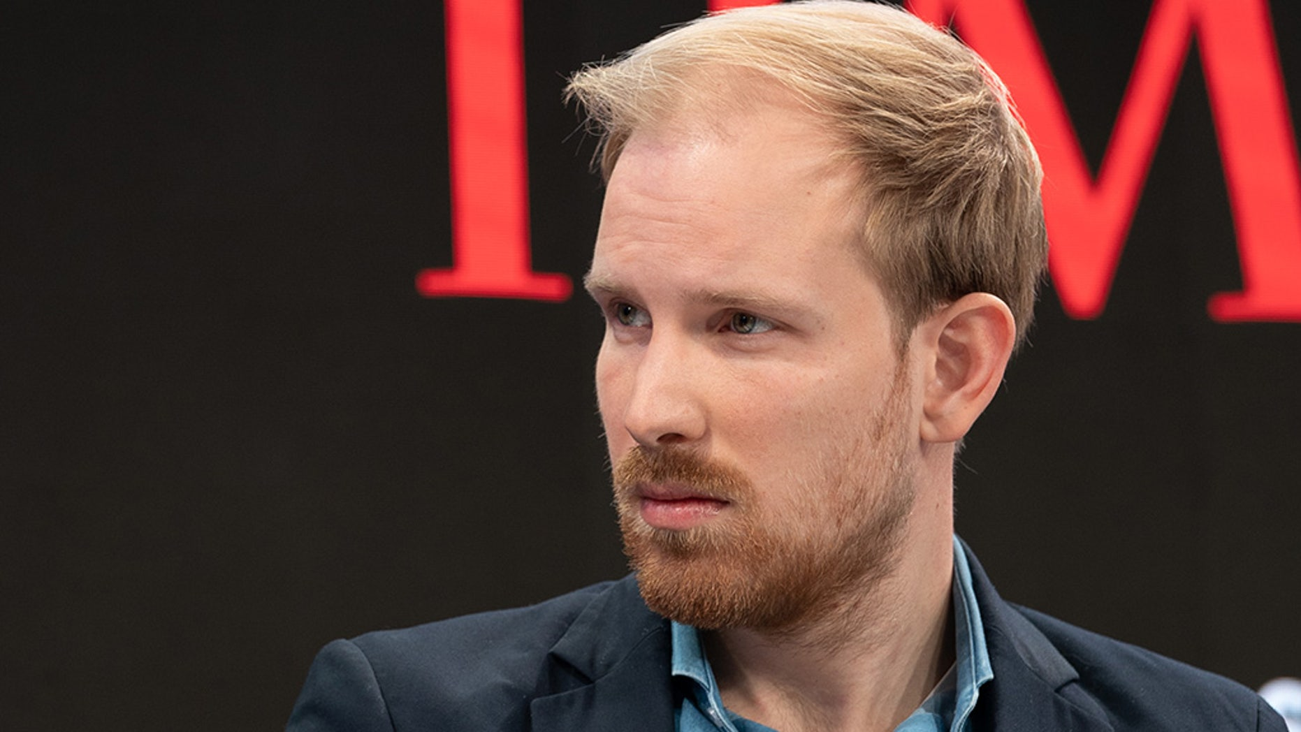 "Rutger Bregman, Author and Historian, during the Session ""The Cost of Inequality"" at the Annual Meeting 2019 of the World Economic Forum in Davos, January 25, 2019."