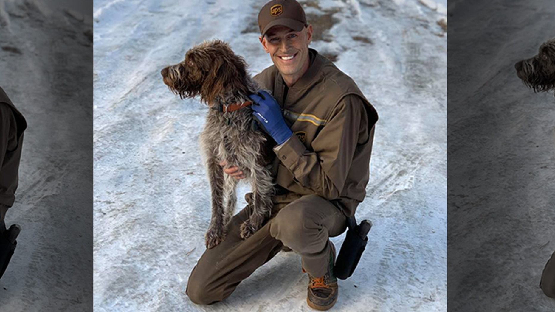Ryan Arens was delivering packages just before Christmas when he noticed a dog stuck on an icy pond in Bozeman, Montana.