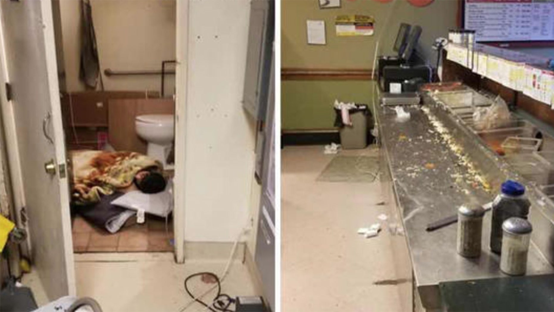 An anonymous customer captured the shocking images, which prompted the restaurant to be shut down.