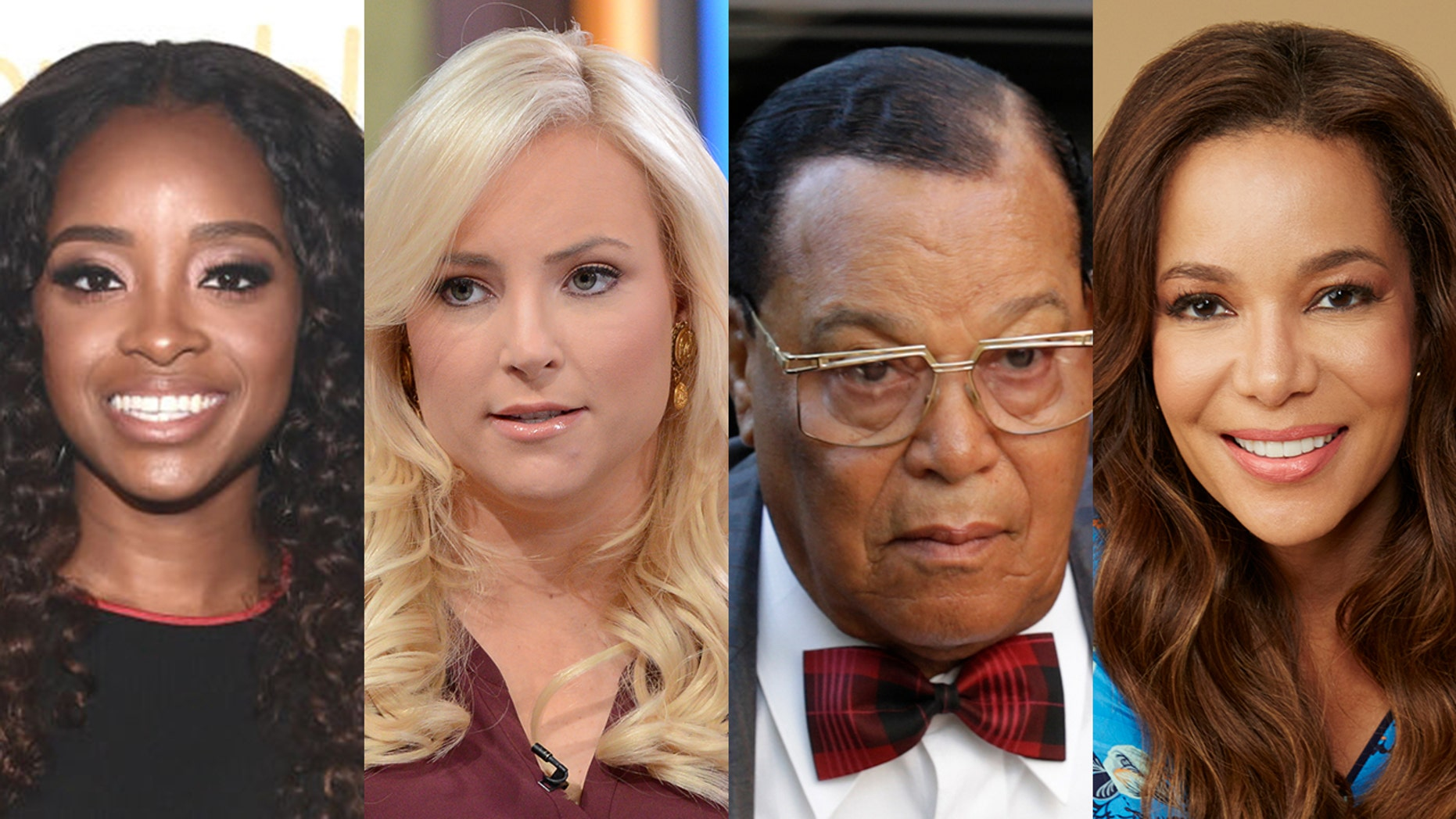 fcf1a09e3acd7 Meghan McCain and Sunny Hostin grilled Women s March co-founder Tamika  Mallory over her ties