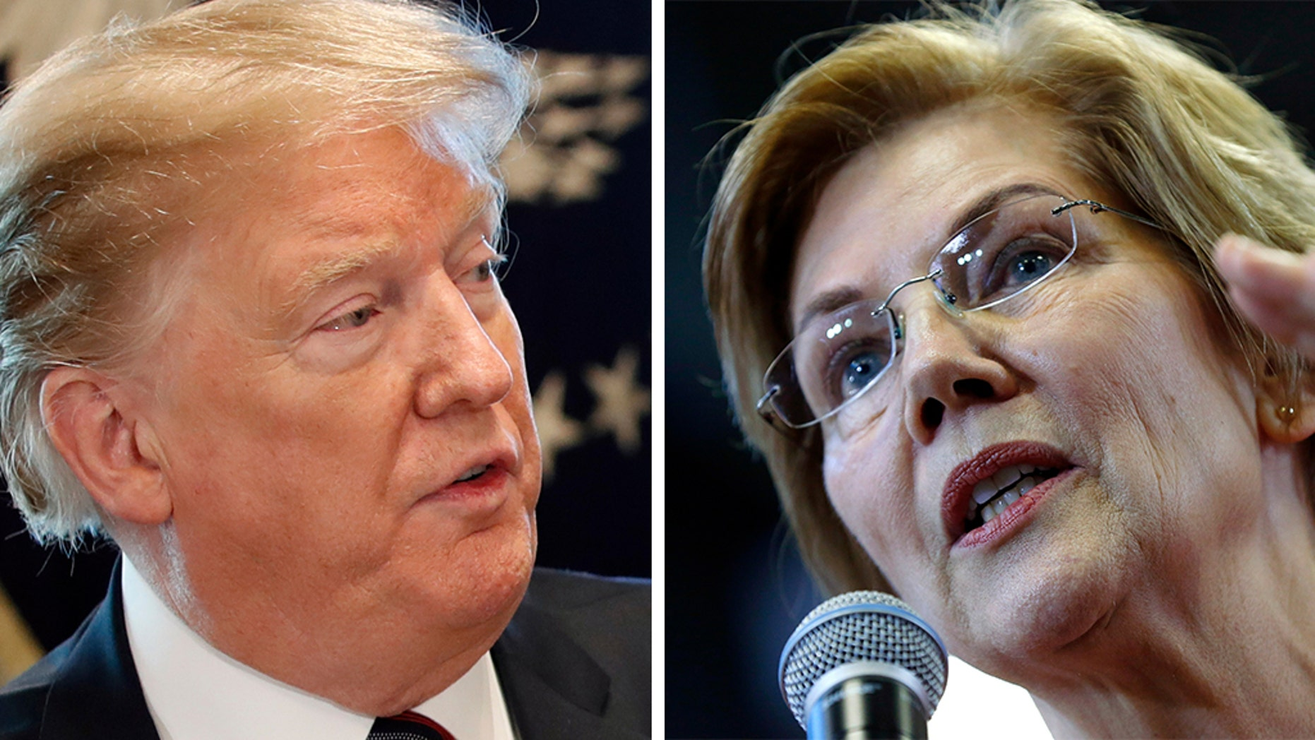 President Trump moaned Massachusetts Democratic Sen. Elizabeth Warren, who blew open a beer on the camera and asked some questions from her followers on New Year's Eve in a spontaneous life stream published on Instagram, channeling similar social media efforts by the young and hip. (AP)