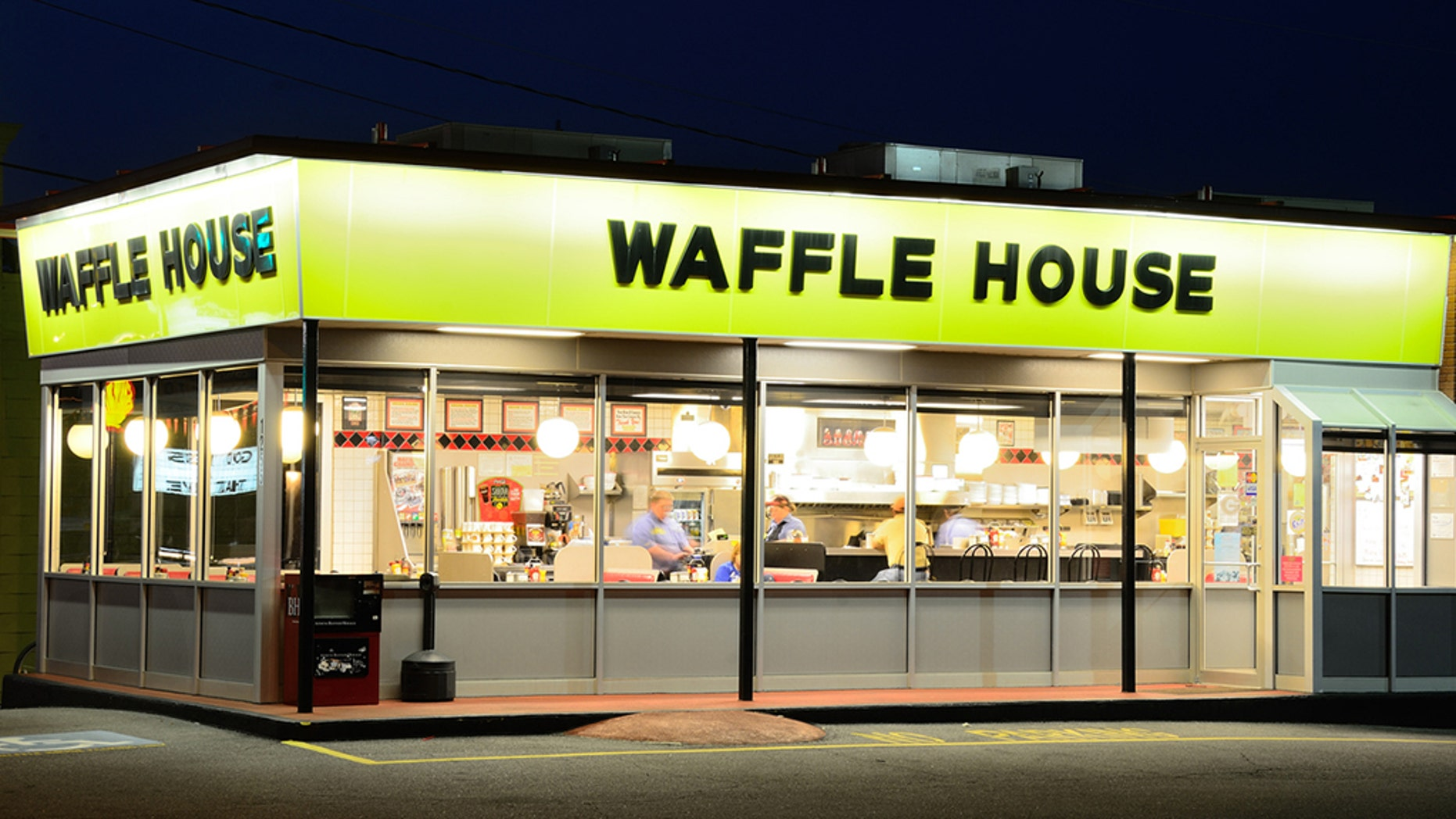 A South Carolina Waffle House remained open despite a truck crashing into it Thursday morning.