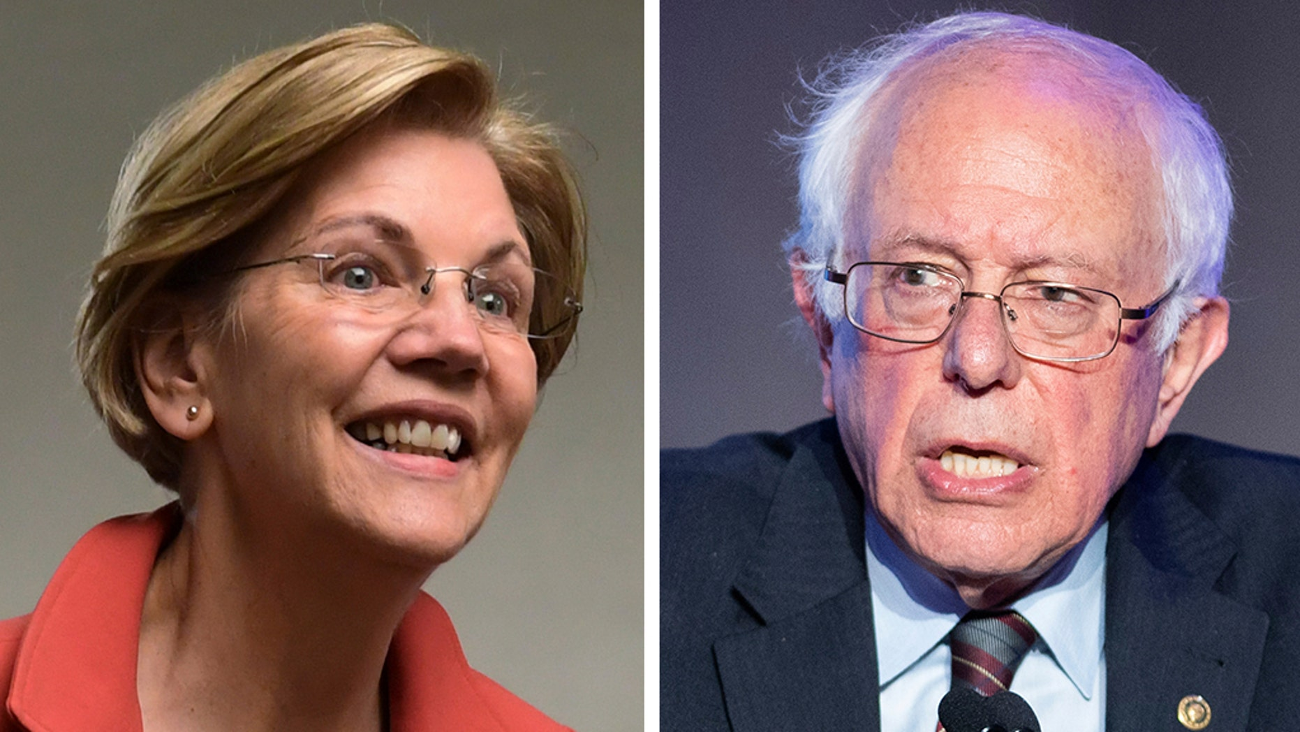 Elizabeth Warren's announcement of an exploratory committee sets up a bruising battle for the nomination with another populist firebrand who also hails from a state that neighbors New Hampshire: Sen. Bernie Sanders of Vermont. (AP)
