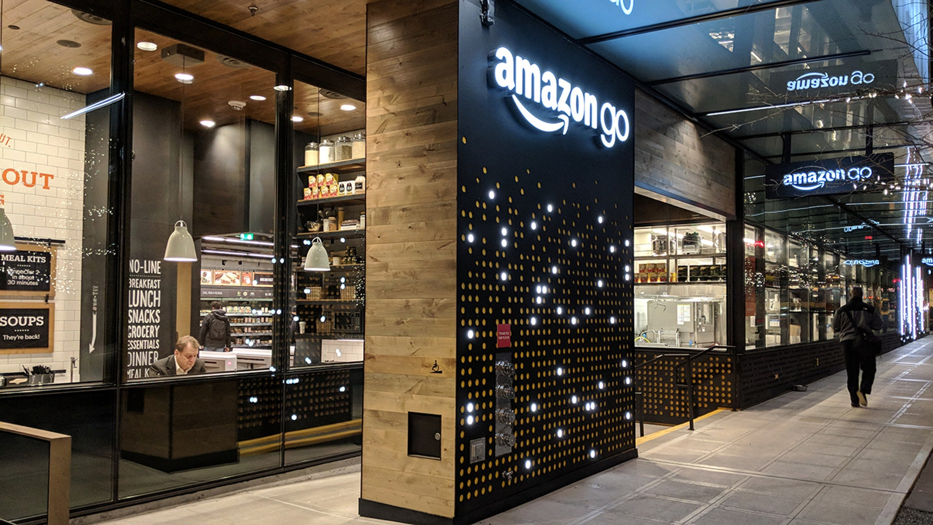 File photo: Seattle, Washington USA - NOVEMBER 27, 2017: Amazon Go stores will now accept cash after the company received backlash. (Credit: Reuters)
