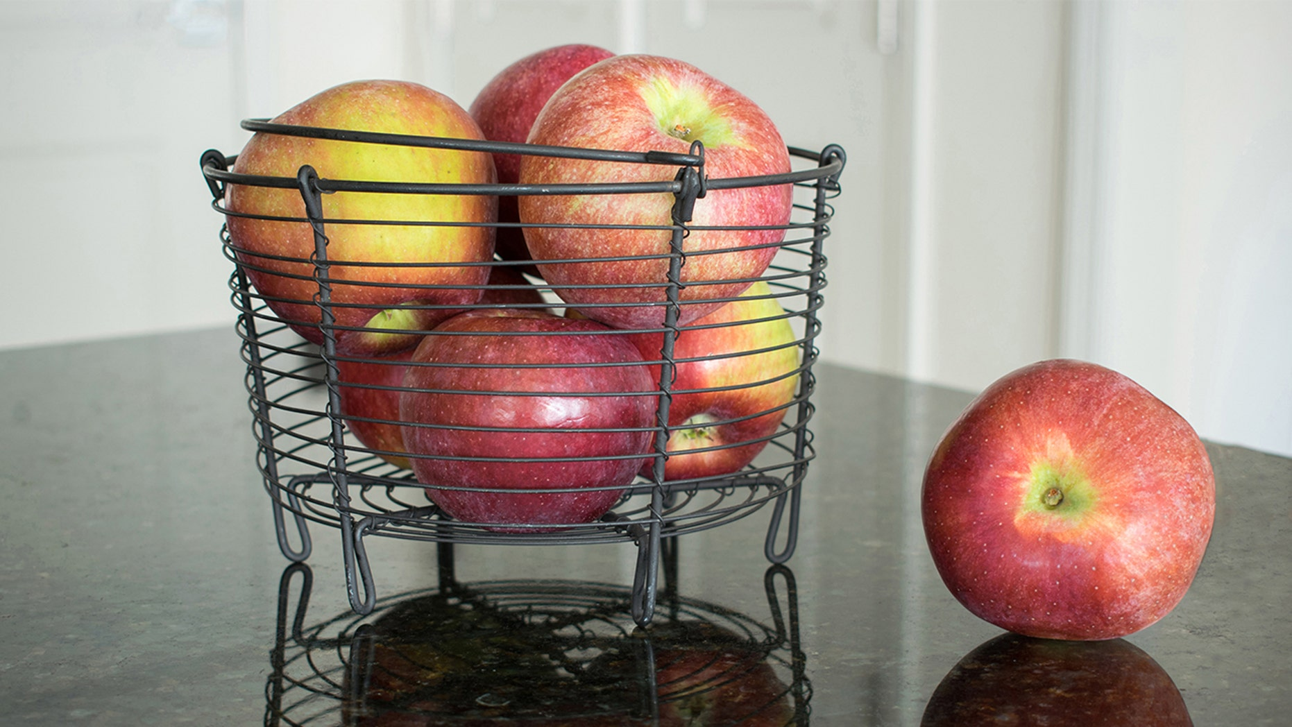 An apple a day keeps the doctor away unless it's gone bad from sitting on the counter.