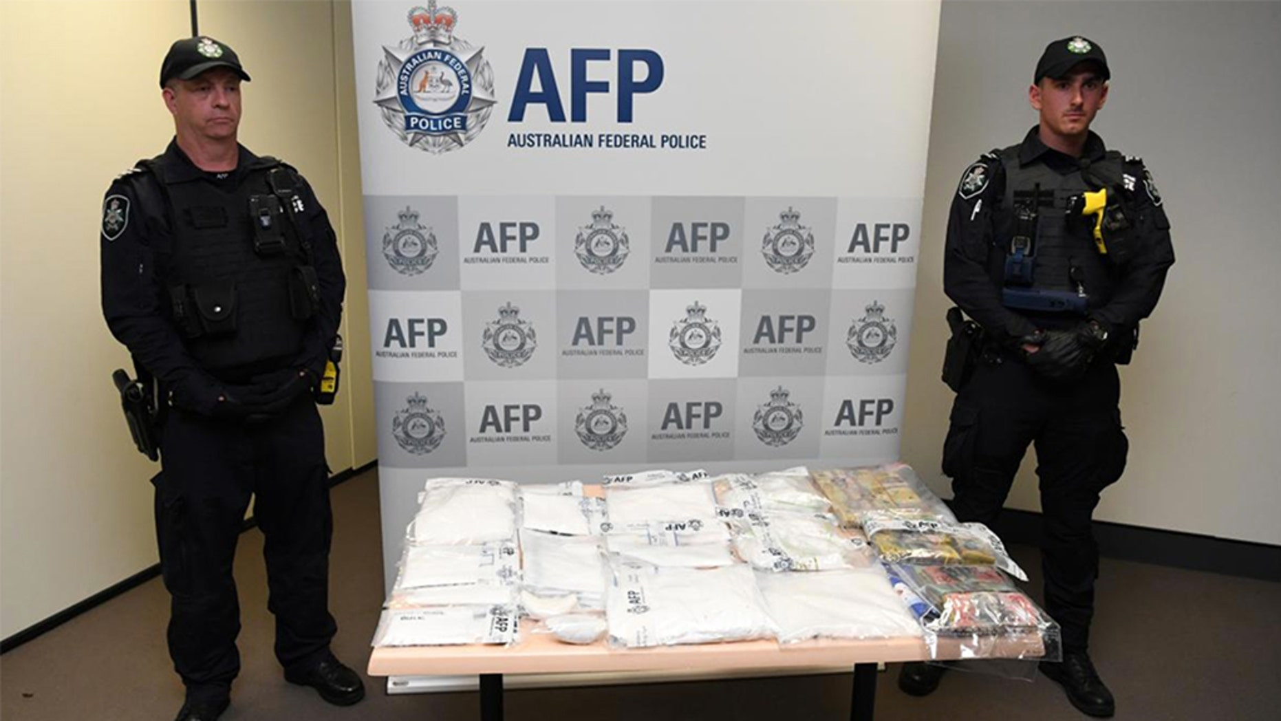 Australian police have arrested a flight attendant along with seven others in connection to a drug smuggling ring that brough $14.5 million of cocaine, methamphetamines and heroin into the country